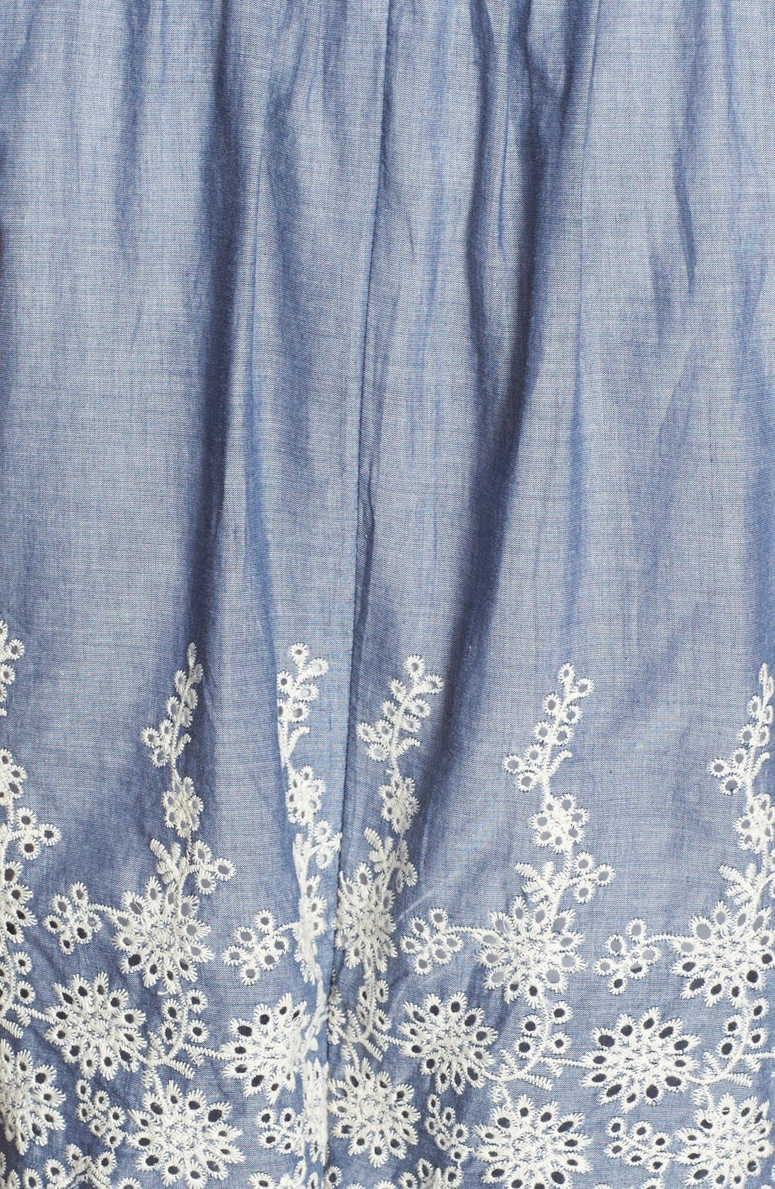 Alternate Image 4  - Ivy & Blu Embroidered Chambray Popover Dress