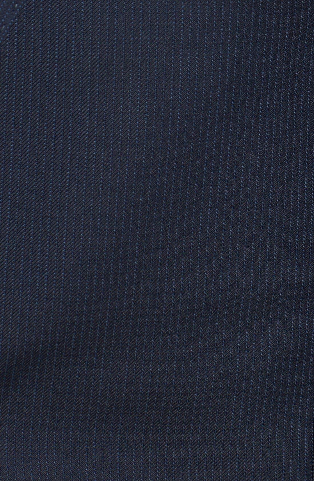 Alternate Image 5  - Hickey Freeman Classic Fit Navy Stripe Suit