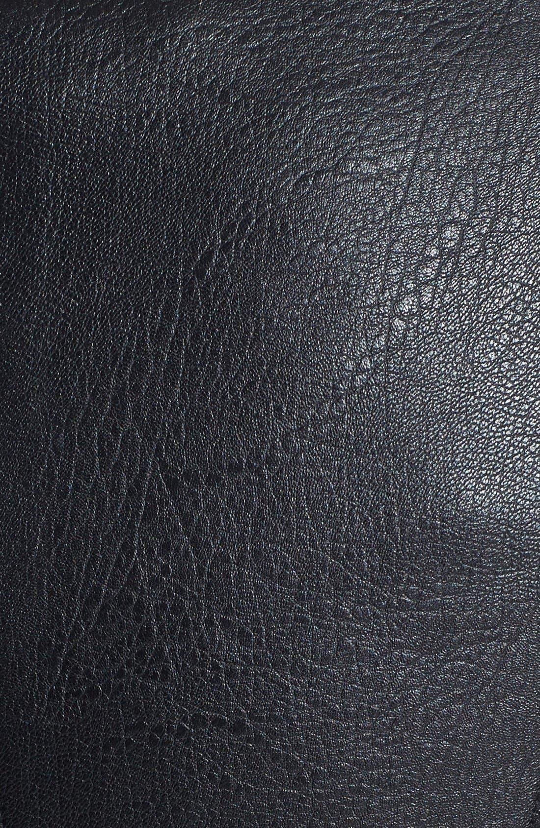 Alternate Image 3  - BCBGeneration Faux Leather & Faux Calf Hair Moto Jacket