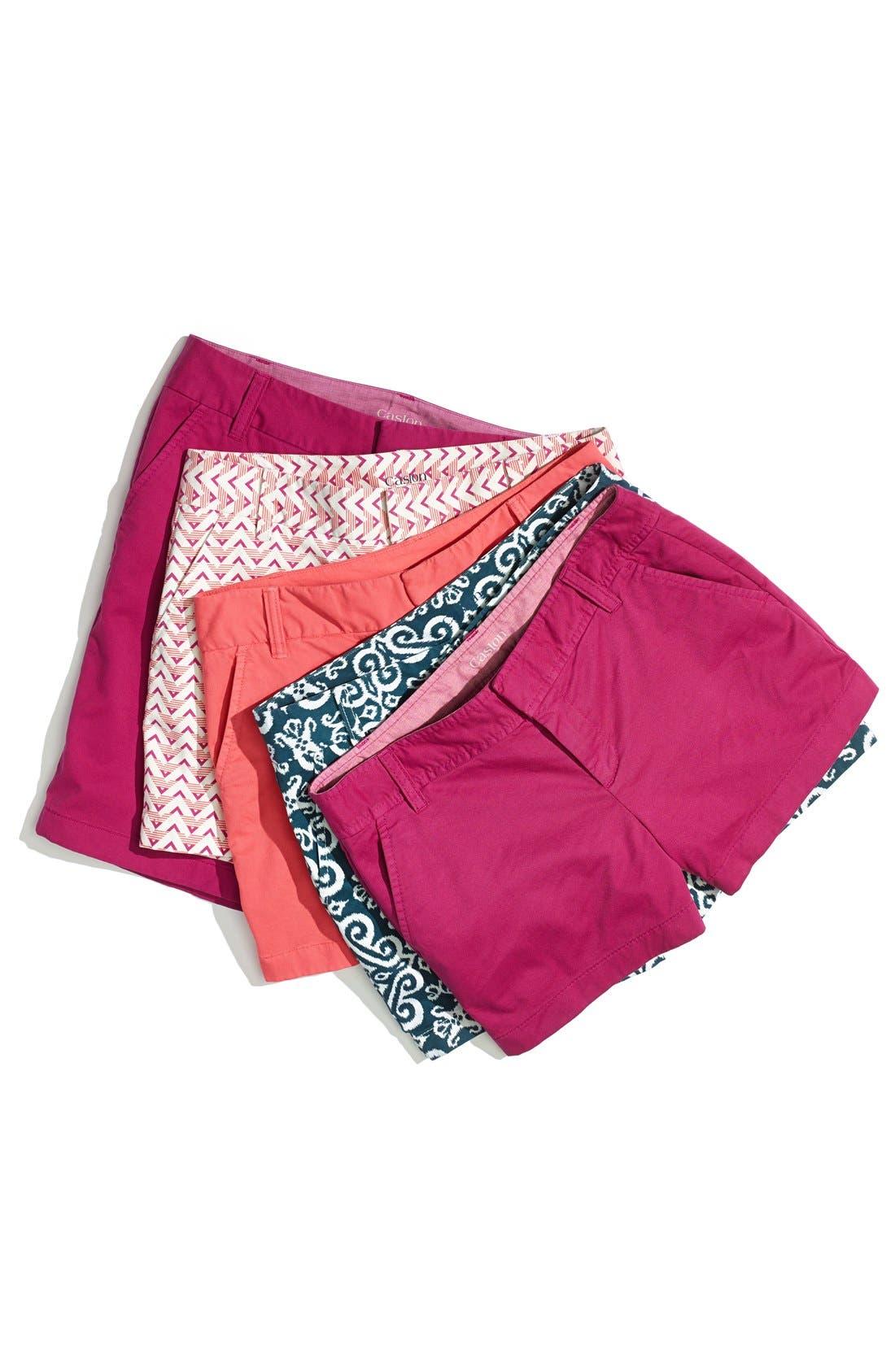 Alternate Image 4  - Caslon® Clean Front Five-Inch Shorts (Regular & Petite)
