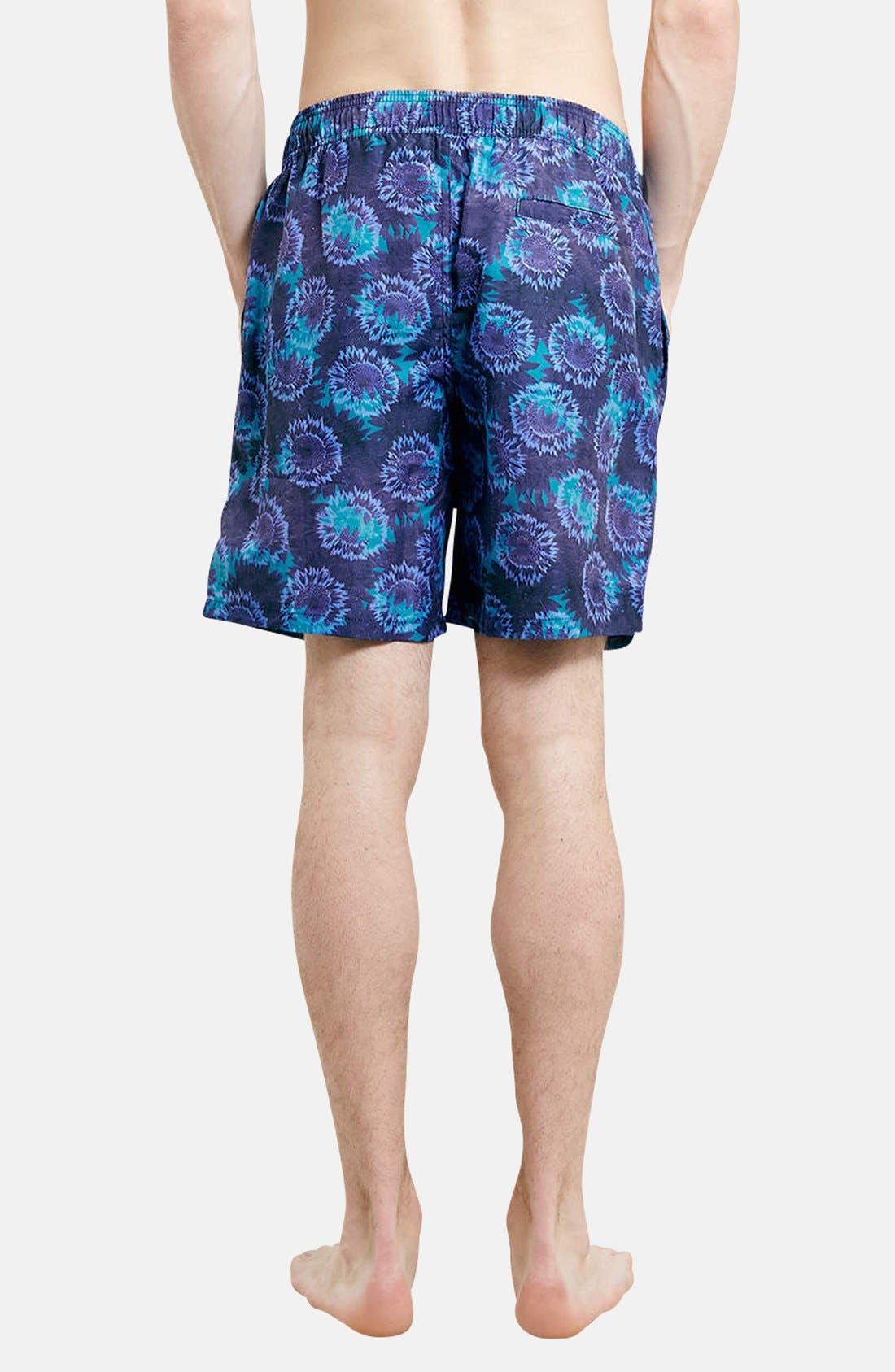 Alternate Image 2  - Topman Floral Print Swim Trunks