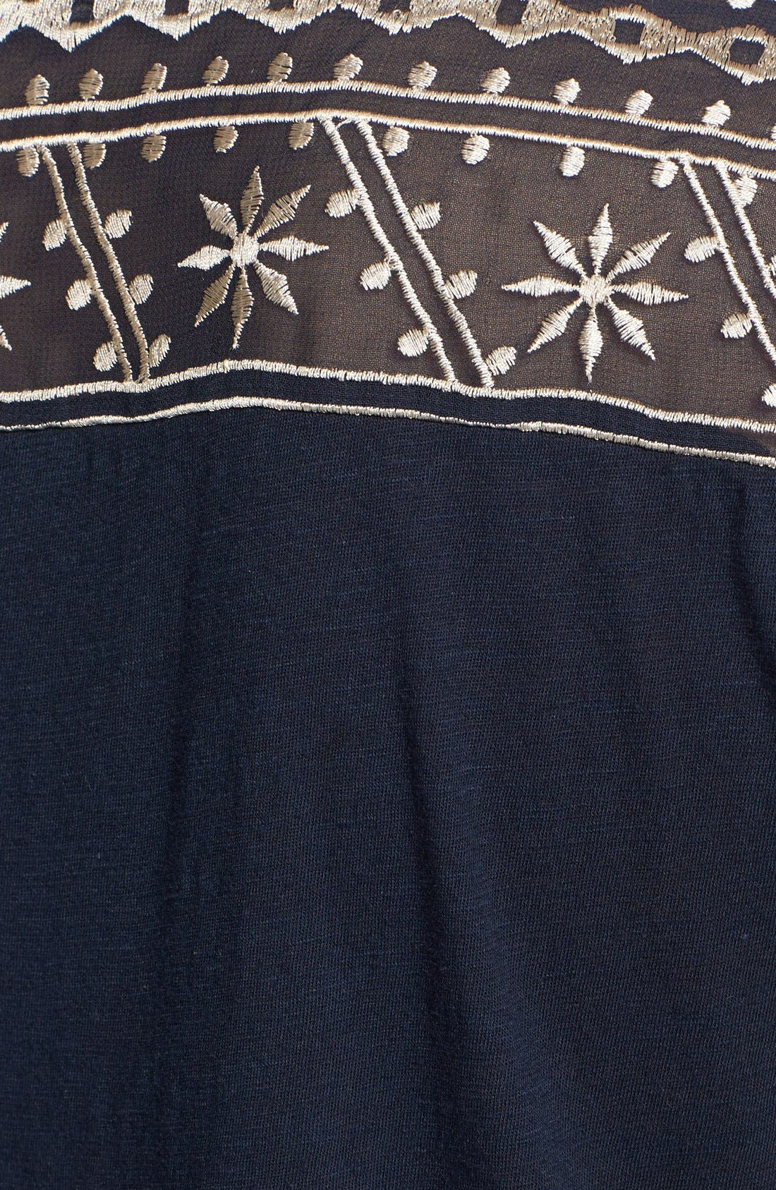 Alternate Image 3  - Lucky Brand 'Kiana' Embroidered Tunic Top