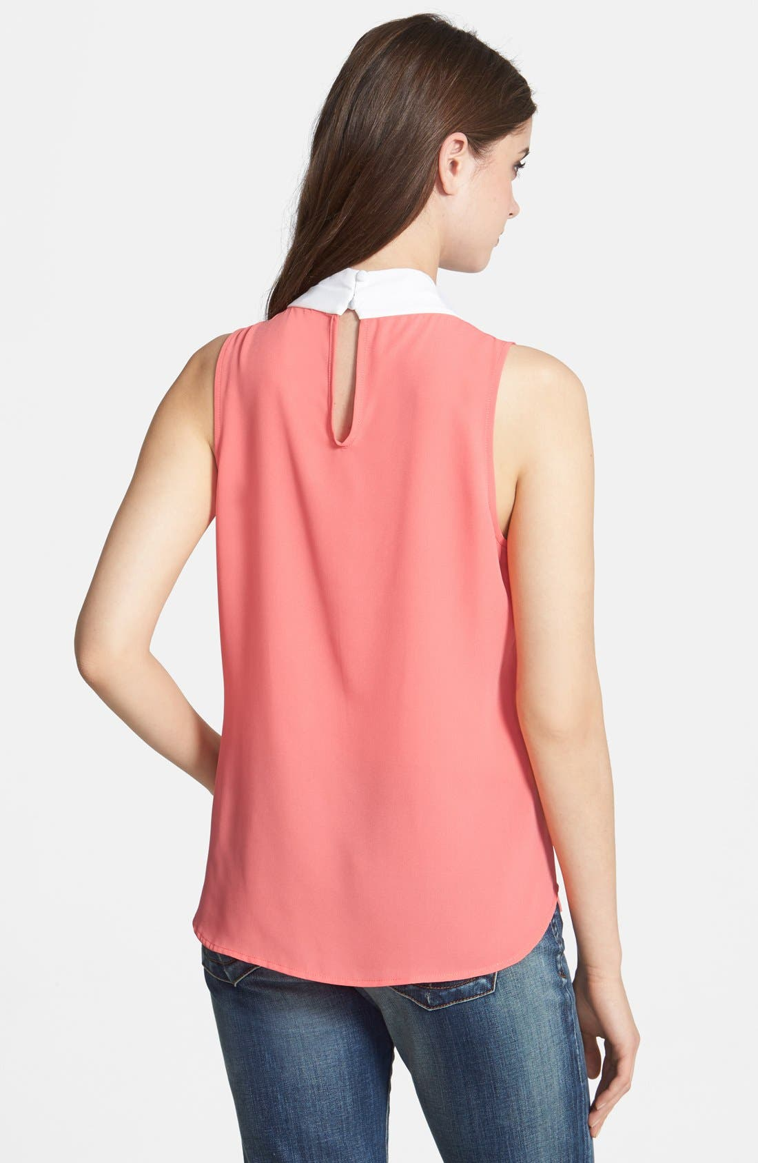 Alternate Image 2  - Bellatrix Keyhole Back Colorblock Top (Regular & Petite)