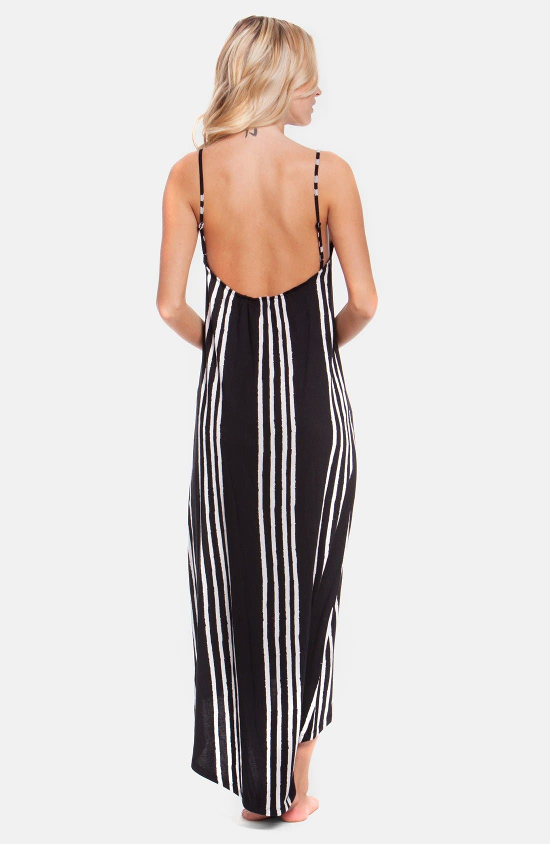 Alternate Image 2  - Rip Curl 'Shifting Stripes' High/Low Maxi Dress (Juniors)