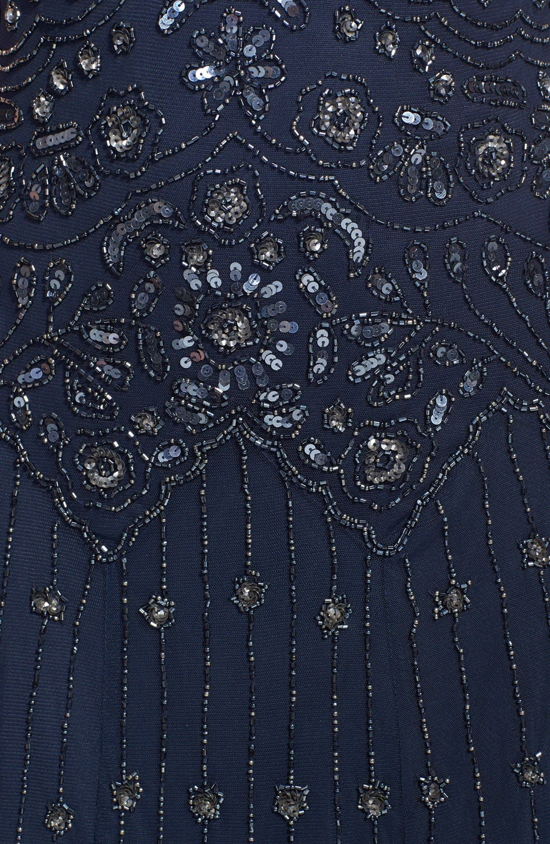 Alternate Image 3  - Pisarro Nights Illusion Yoke Beaded Mesh Dress (Regular & Petite)