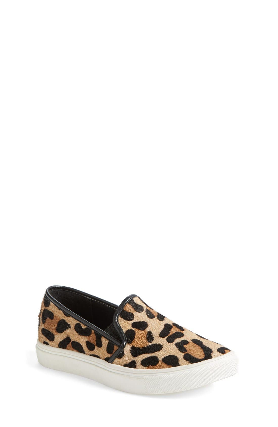Alternate Image 1 Selected - Steve Madden 'Ecntric' Calf Hair Slip-On (Little Kid & Big Kid)