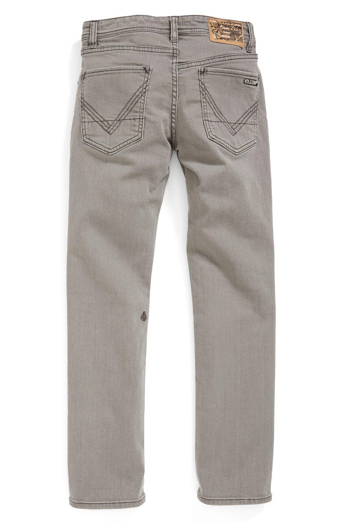 Alternate Image 1 Selected - Volcom 'Vorta' Slim Fit Jeans (Big Boys)