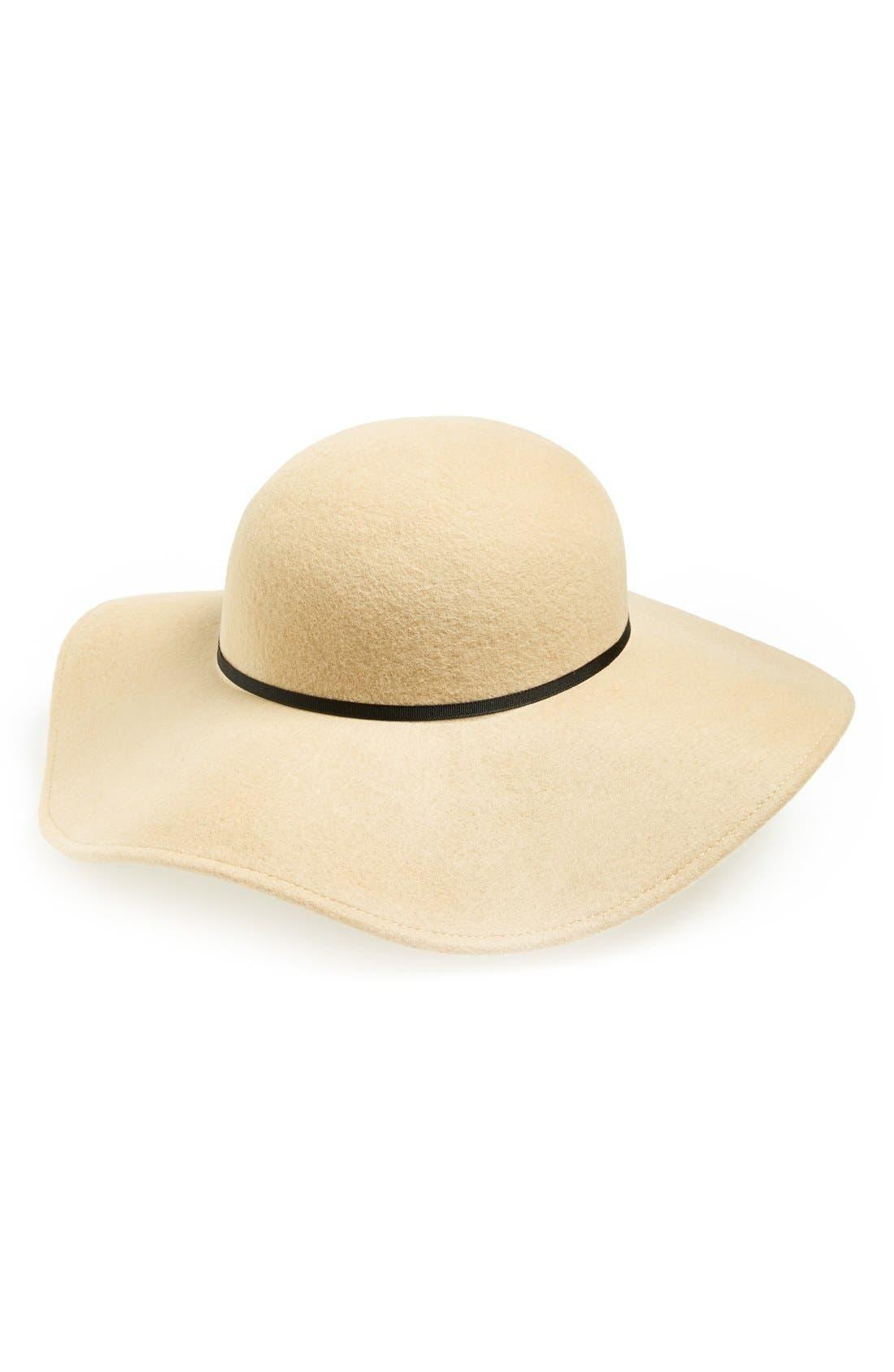 Main Image - Topshop Floppy Wool Hat