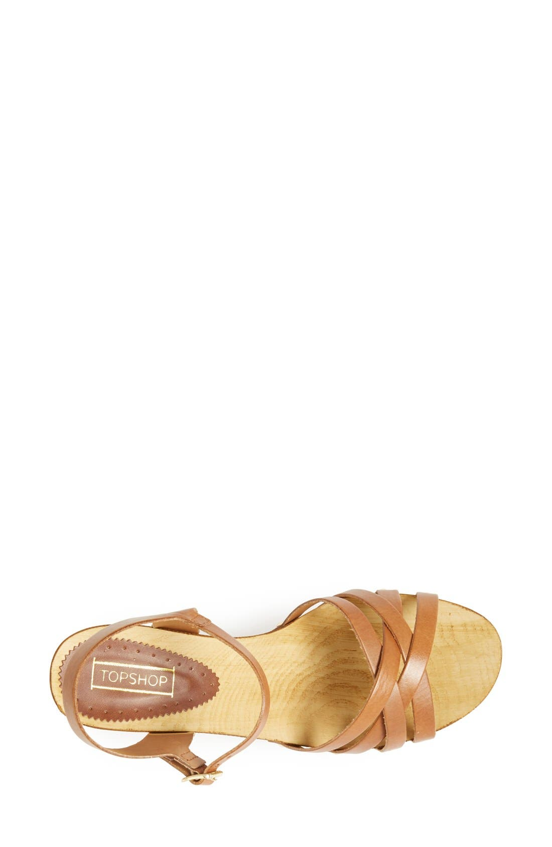 Alternate Image 3  - Topshop 'Nancy' Leather Sandal (Women)