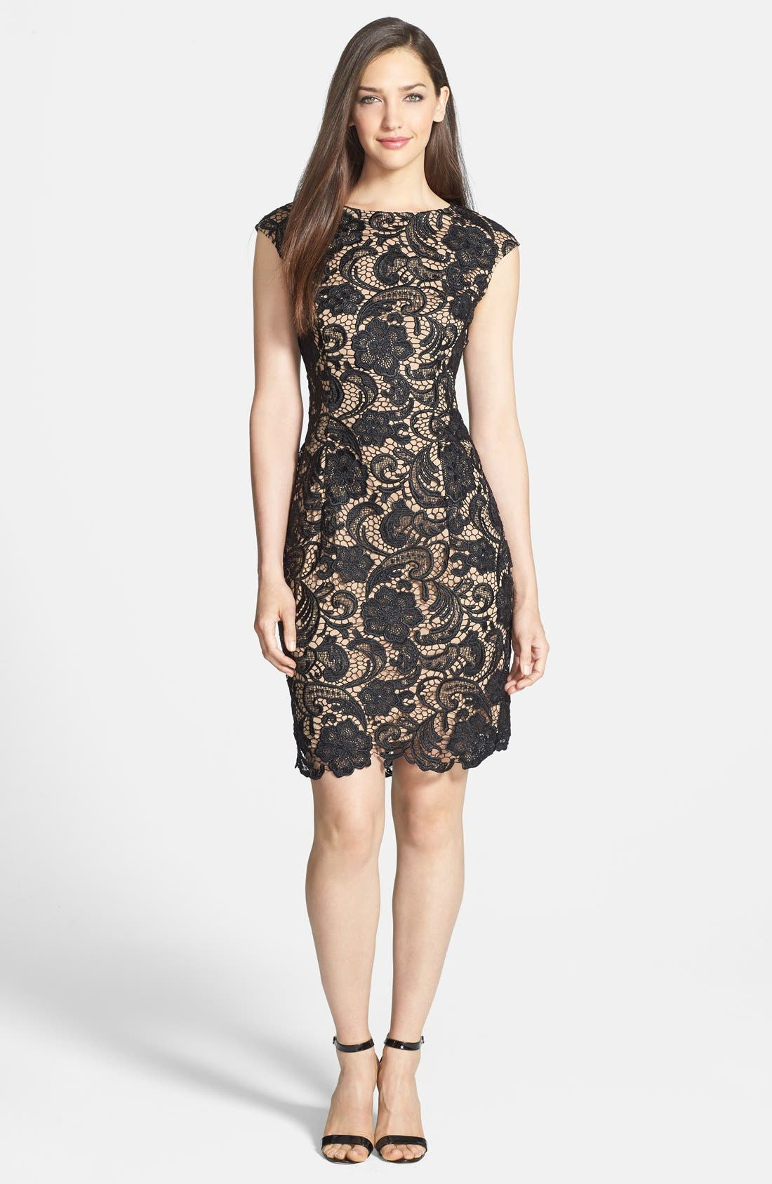 Alternate Image 3  - Alex Evenings Cap Sleeve Lace Dress