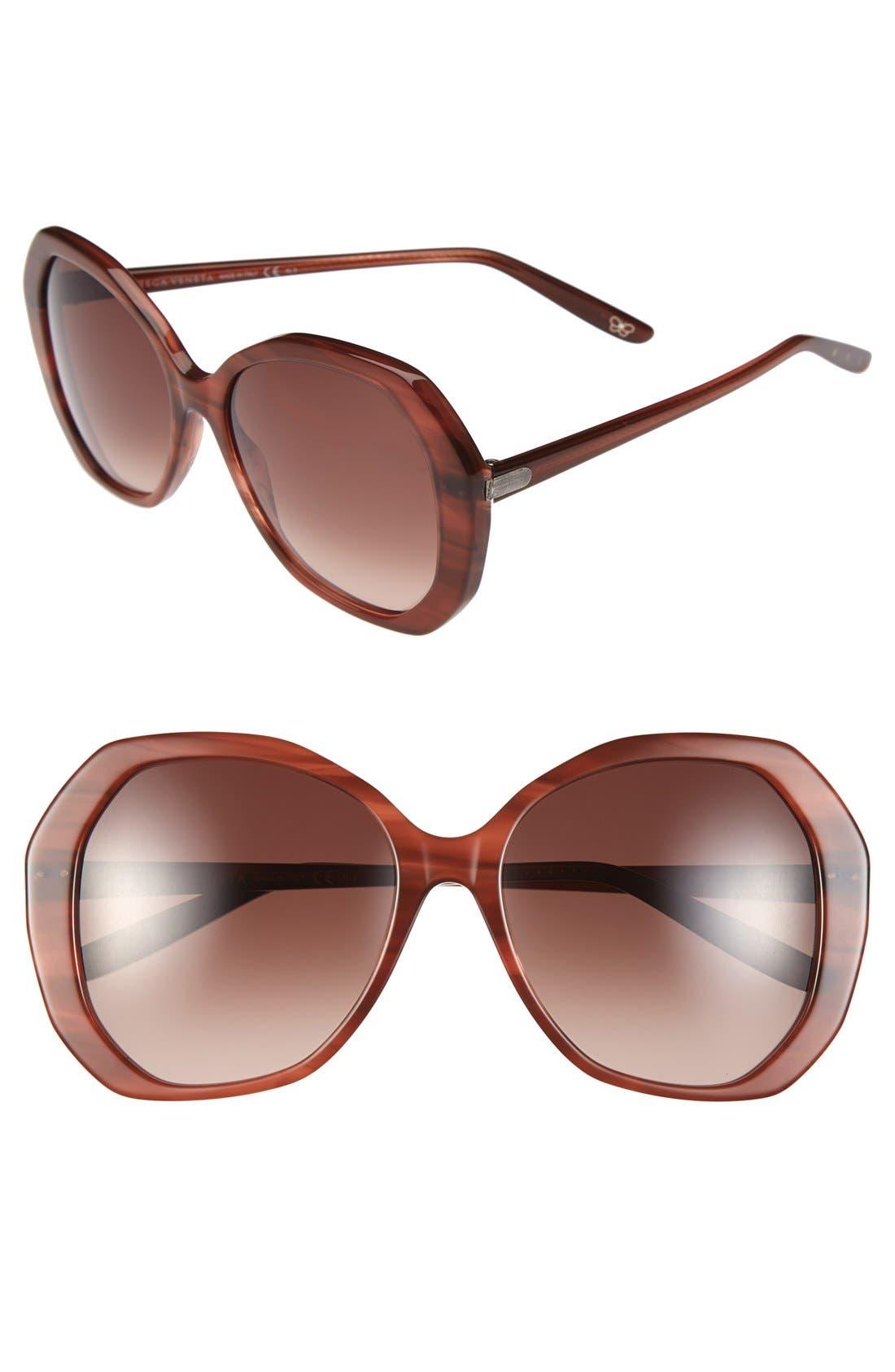 Main Image - Bottega Veneta 56mm Retro Sunglasses
