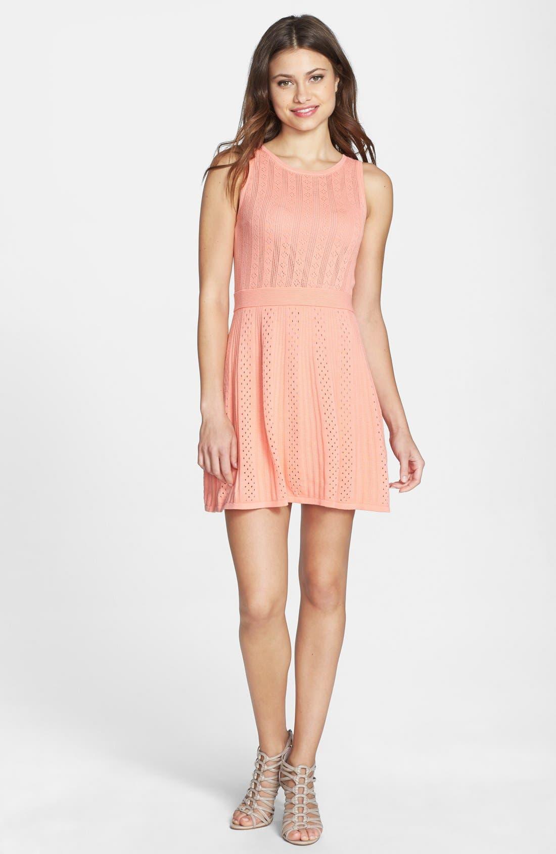 Alternate Image 3  - Trina Trina Turk 'Marcela' Cotton Pointelle Knit Dress