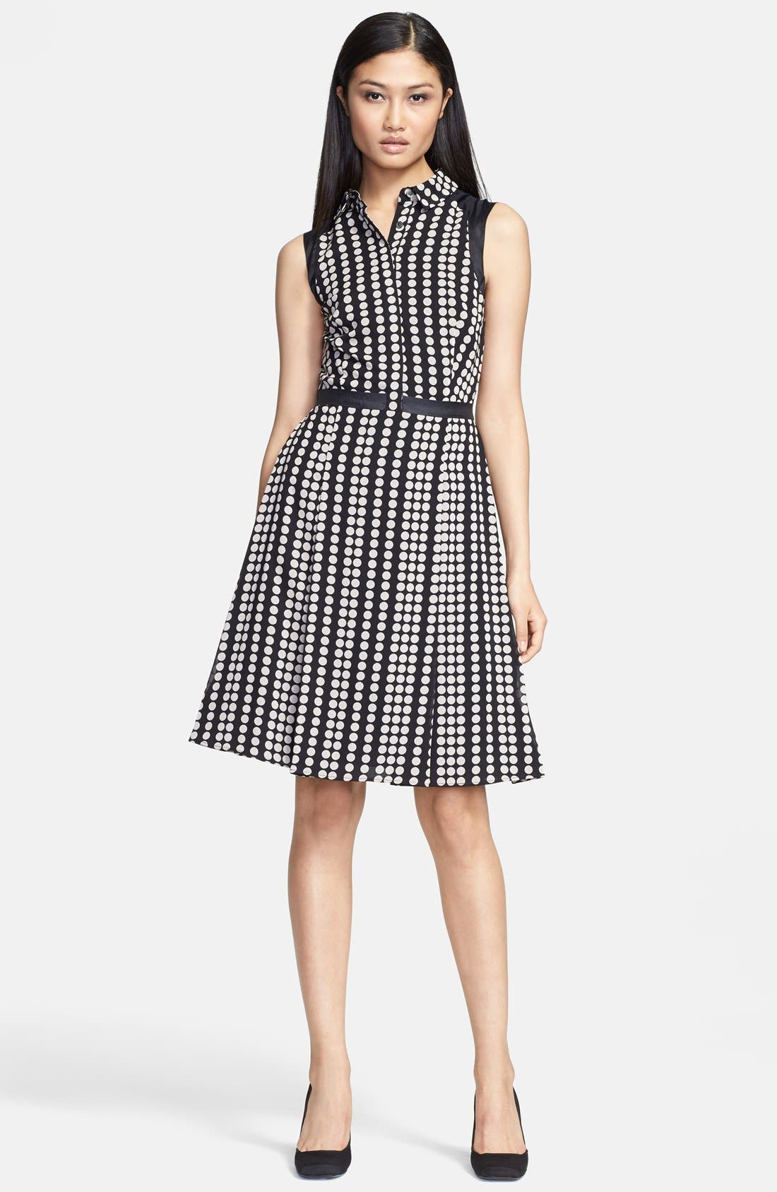 Main Image - Tory Burch 'Katy' Stretch Silk Fit & Flare Dress