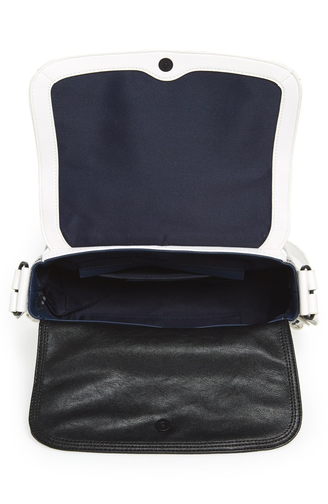 Alternate Image 3  - French Connection Faux Leather Crossbody Bag