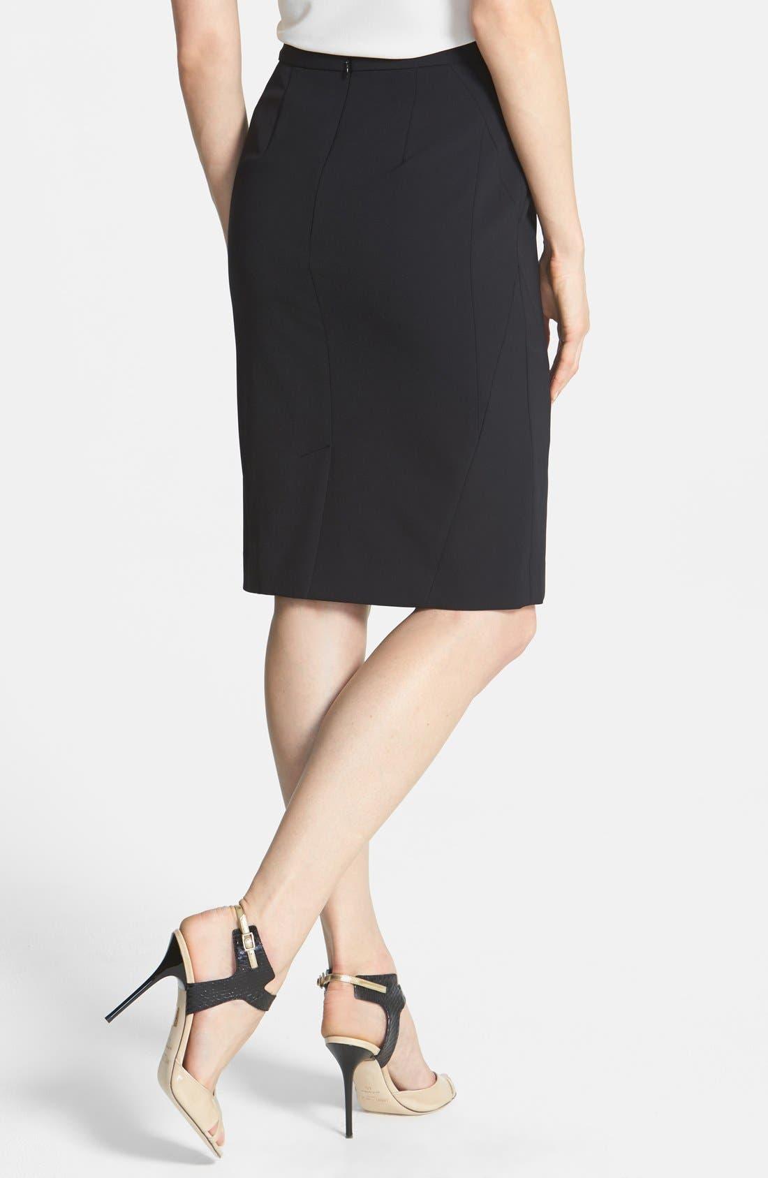 Alternate Image 2  - Classiques Entier® Techno Pencil Skirt