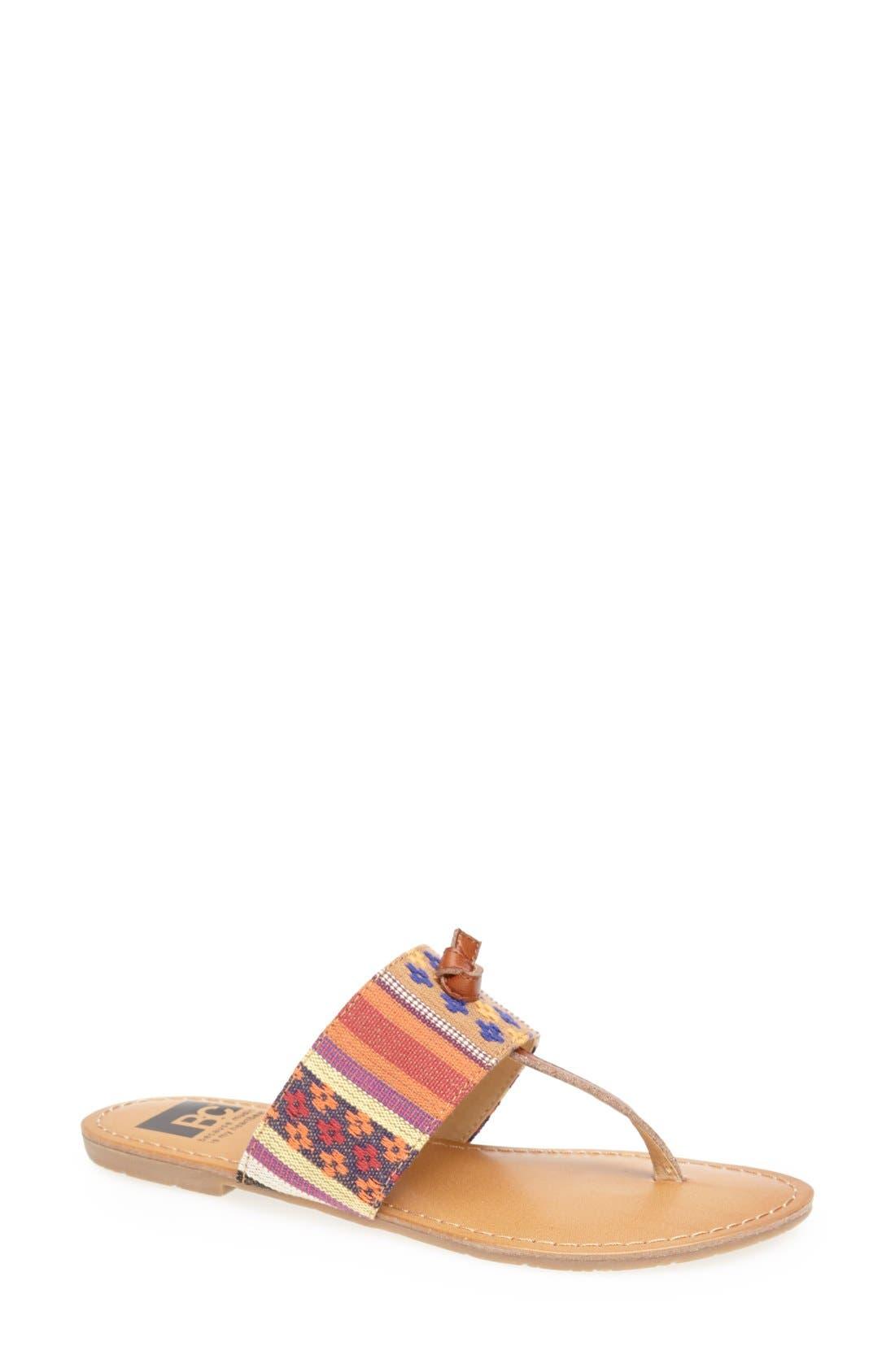 Alternate Image 1 Selected - BC Footwear 'Gotta Try' Thong Sandal (Women)