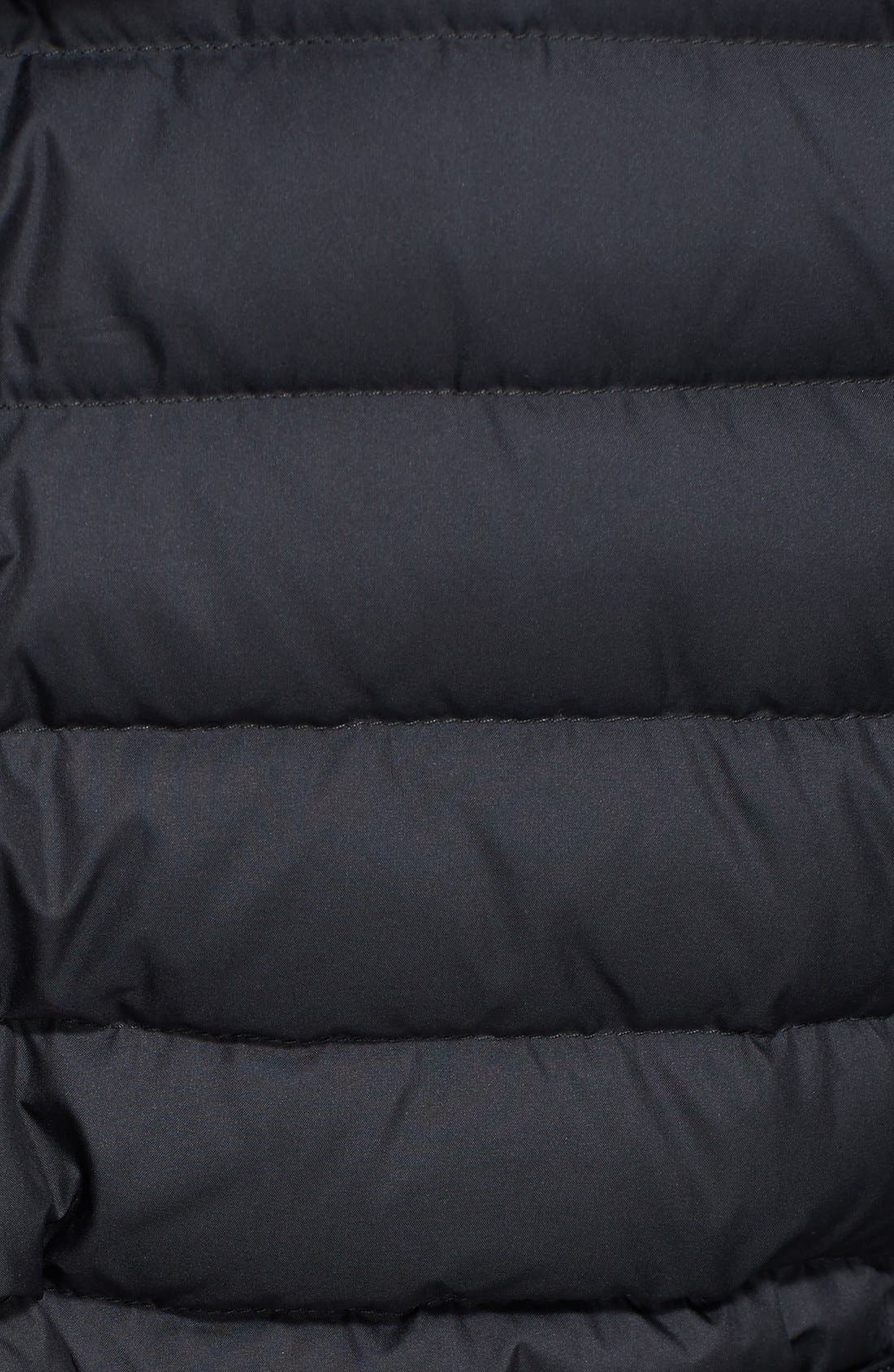 Alternate Image 2  - Burberry Brit 'Colbrooke' Channel Quilt Down Coat with Removable Hood