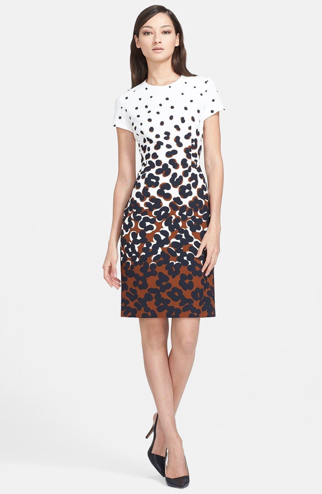 Main Image - ESCADA Dot Print Sheath Dress