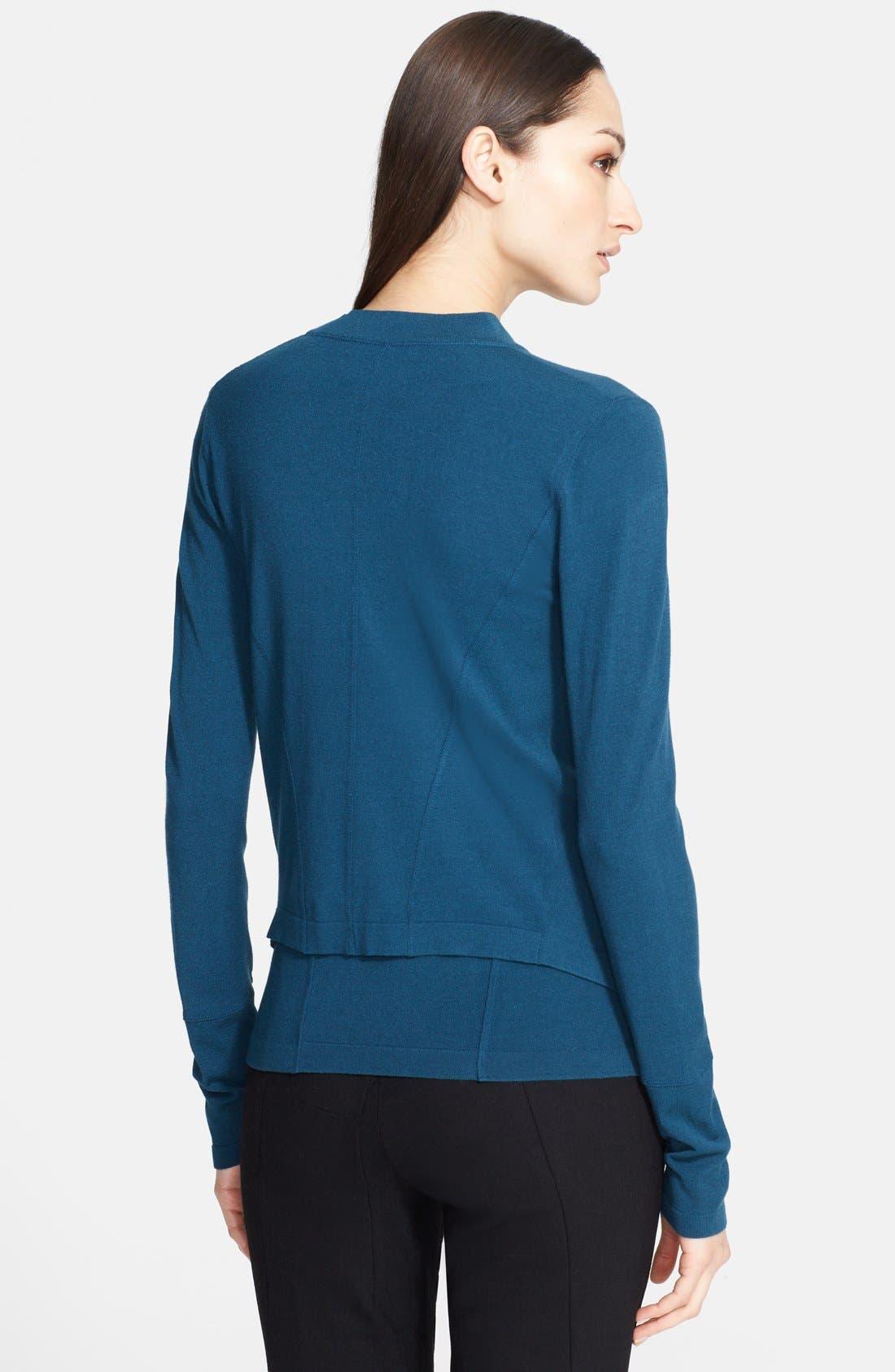 Alternate Image 2  - Donna Karan Collection Drape Front Jacket