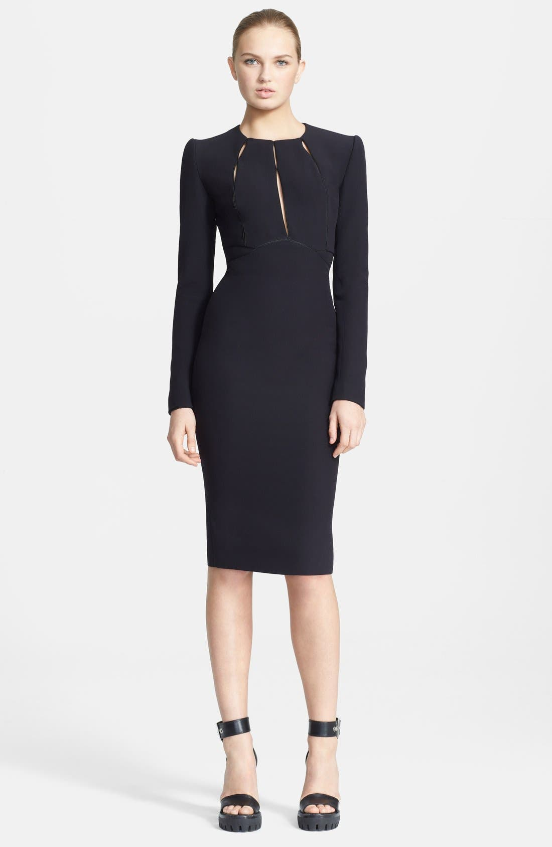Main Image - Alexander McQueen Keyhole Detail Pencil Dress
