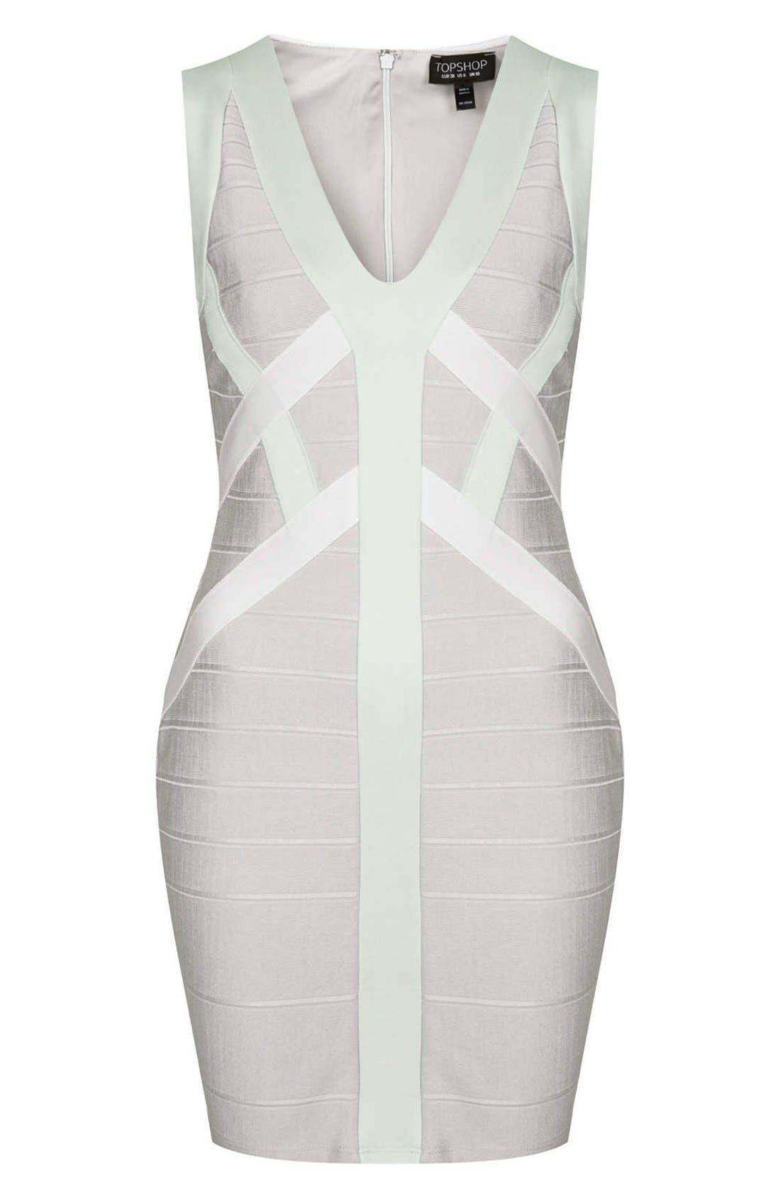 Alternate Image 3  - Topshop Satin Bandage Body-Con Dress