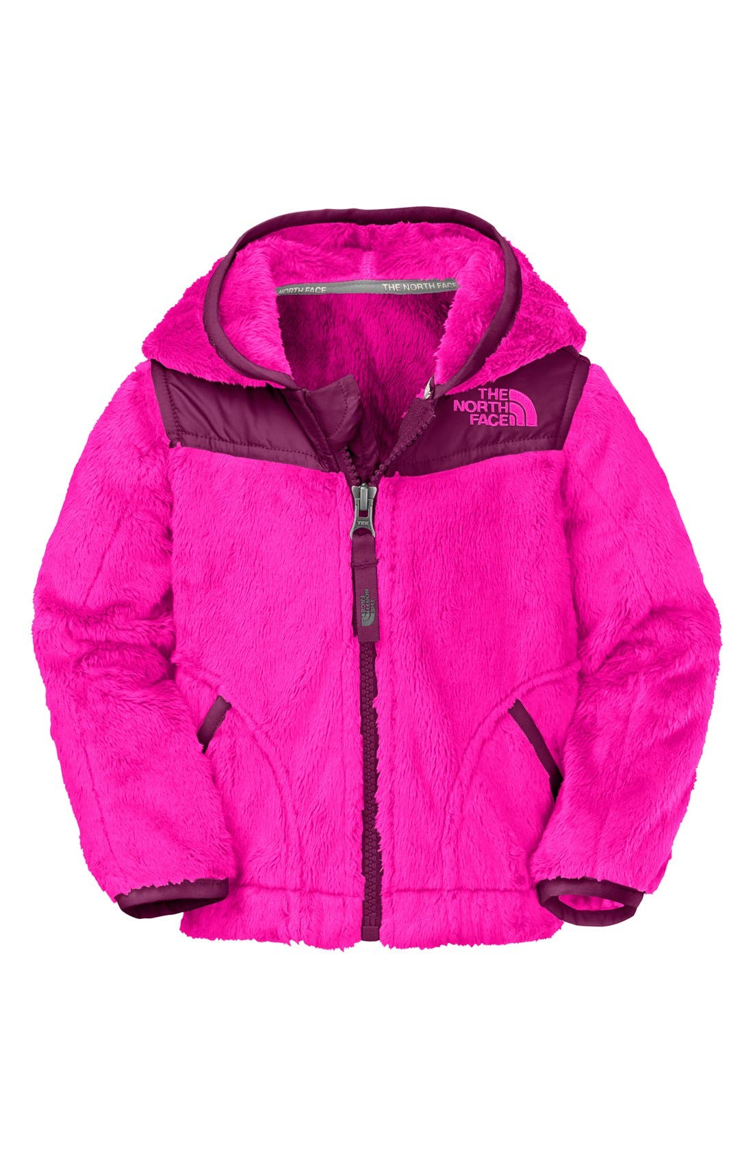 Main Image - The North Face 'Oso' Fleece Hoodie (Baby Girls)