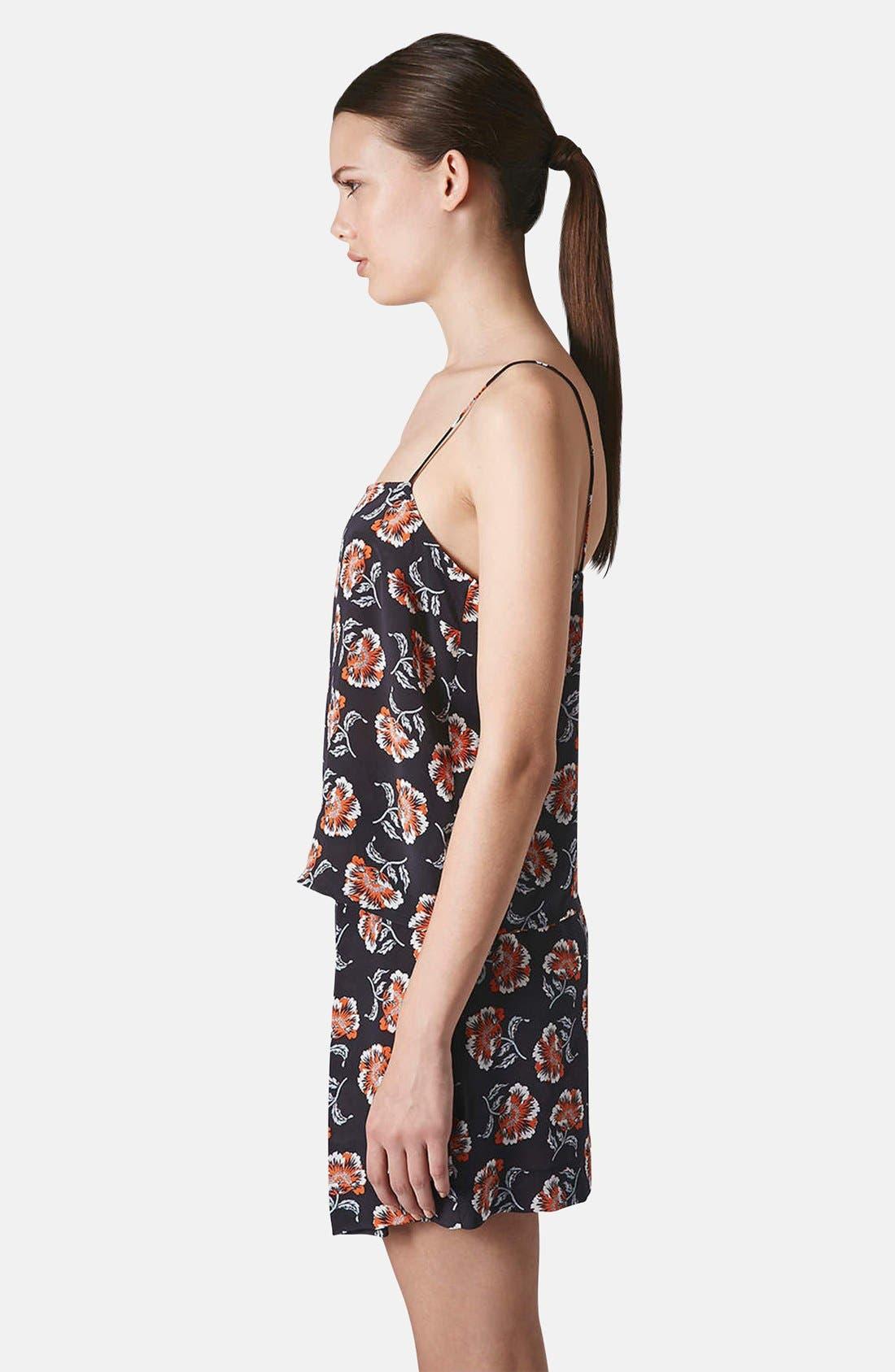 Alternate Image 4  - Topshop Boutique Floral Print Silk Camisole