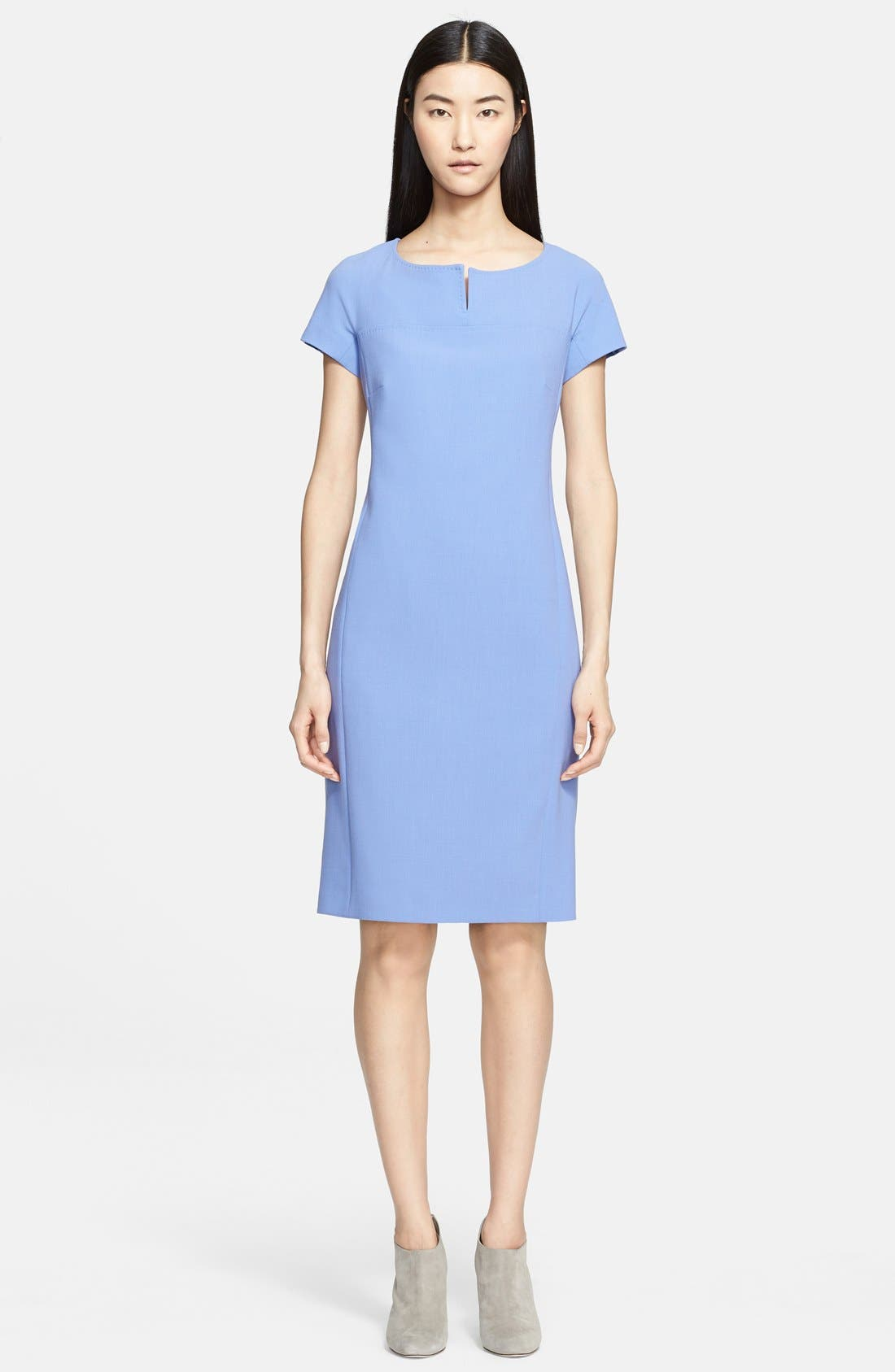 Main Image - Max Mara 'Fiamma Doppio' Wool Crepe Dress