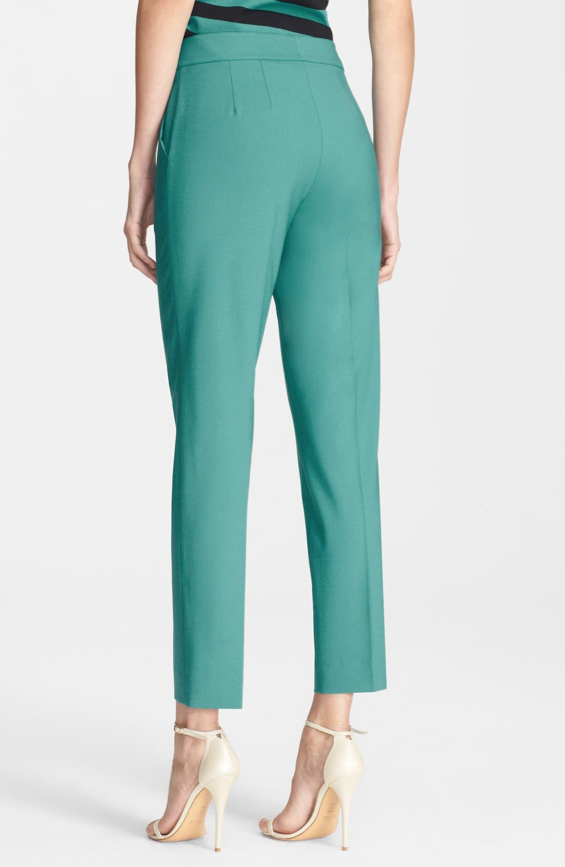 Alternate Image 2  - St. John Collection 'Emma' Stretch Tropical Crop Pants