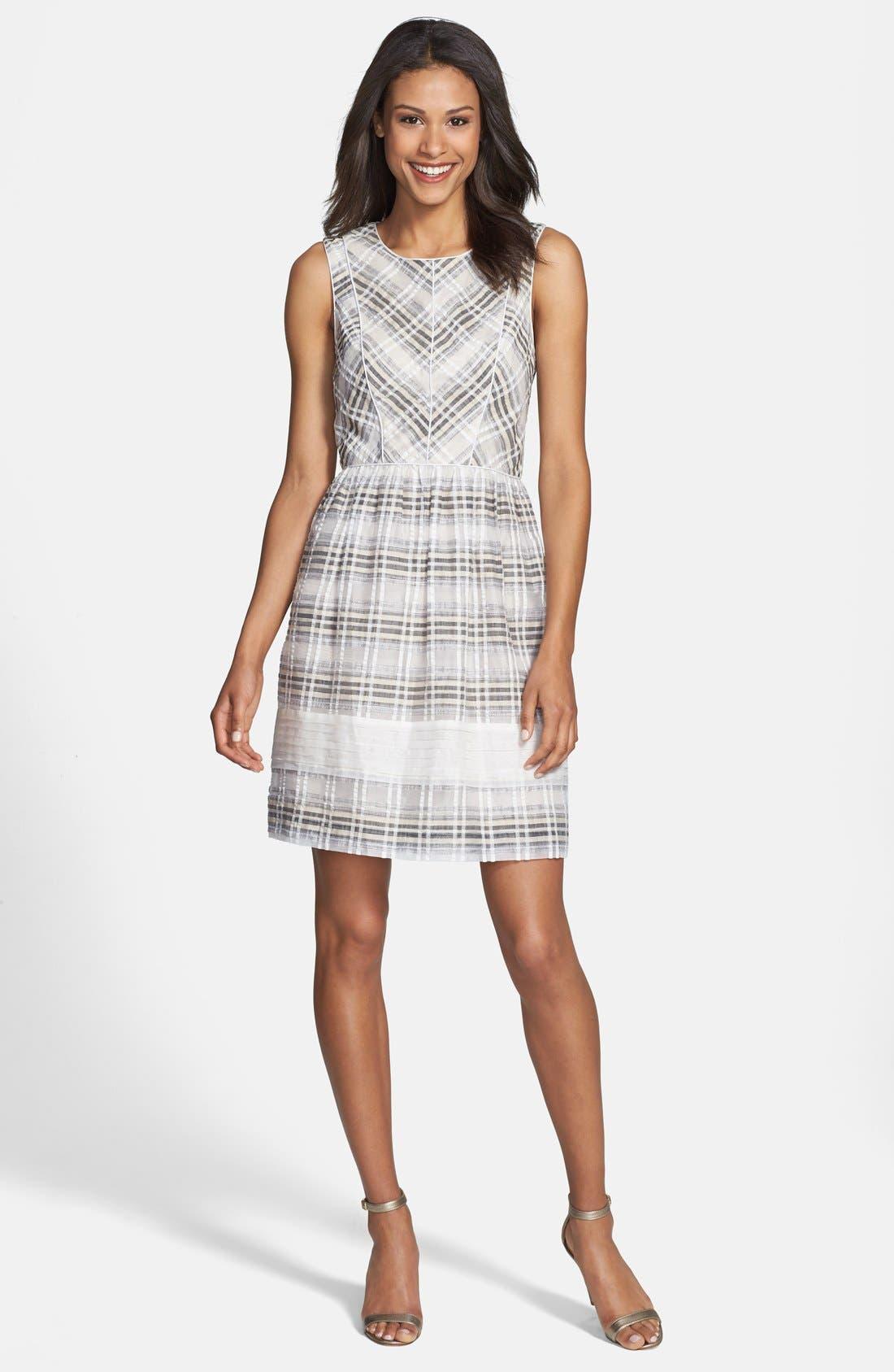 Alternate Image 3  - Ivy & Blu Plaid Fit & Flare Dress