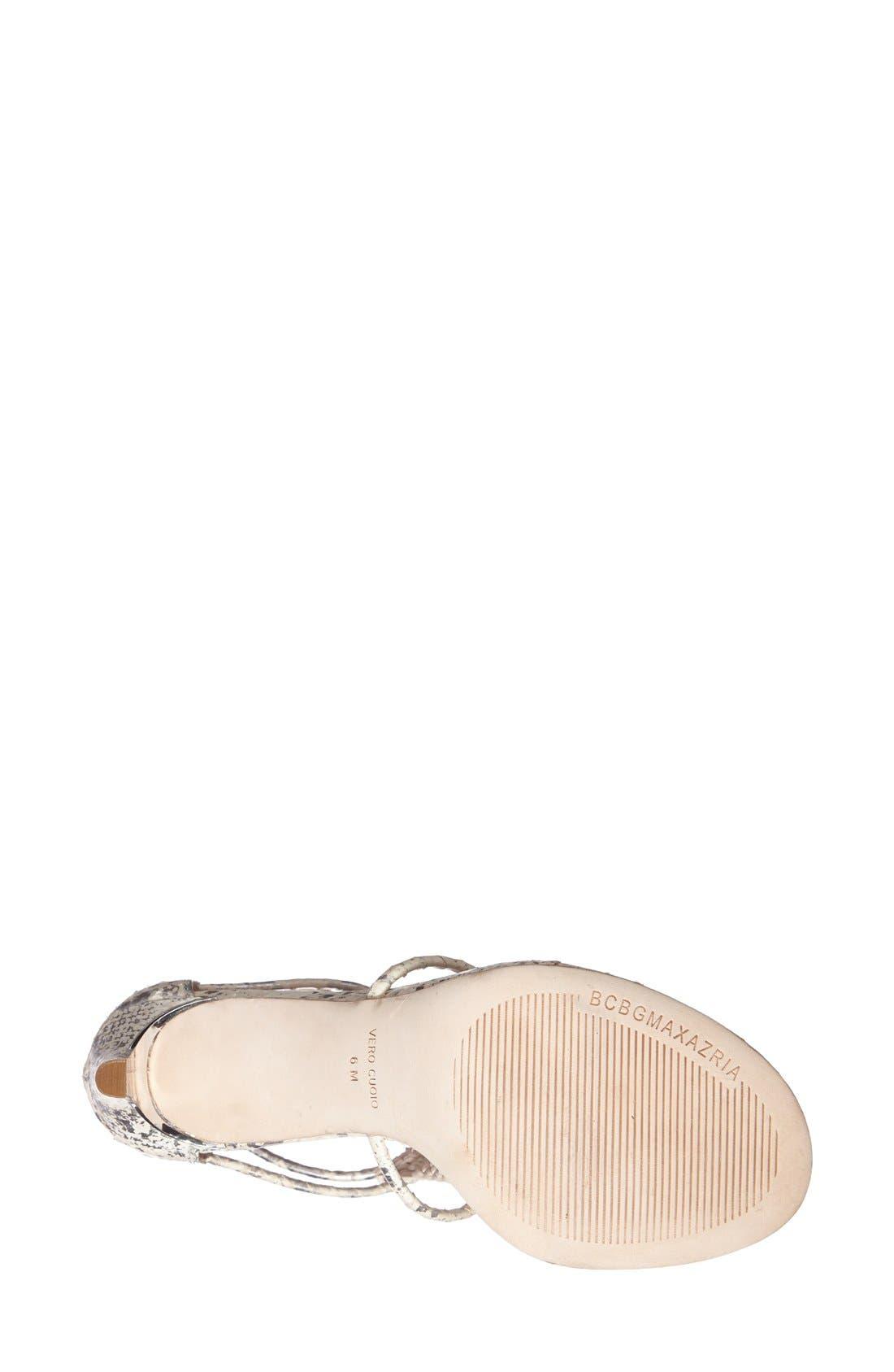 Alternate Image 3  - BCBGMAXAZRIA Caged Leather Sandal