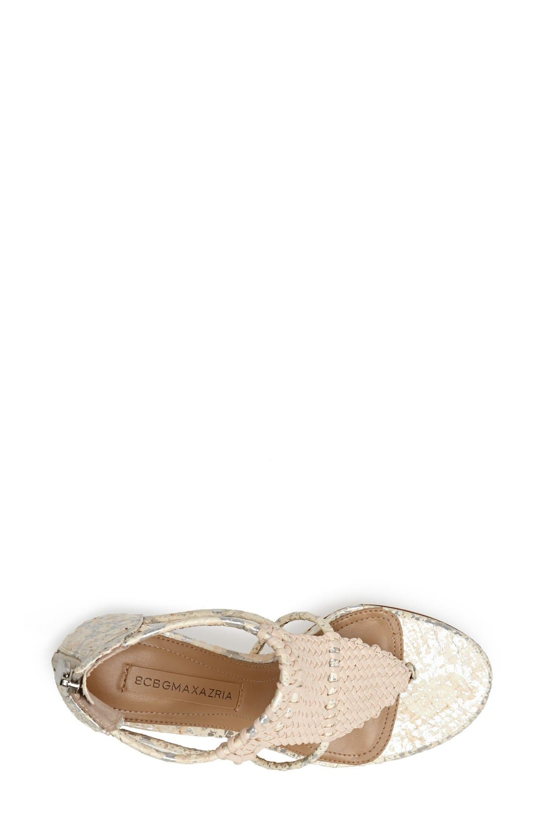 Alternate Image 4  - BCBGMAXAZRIA Caged Leather Sandal