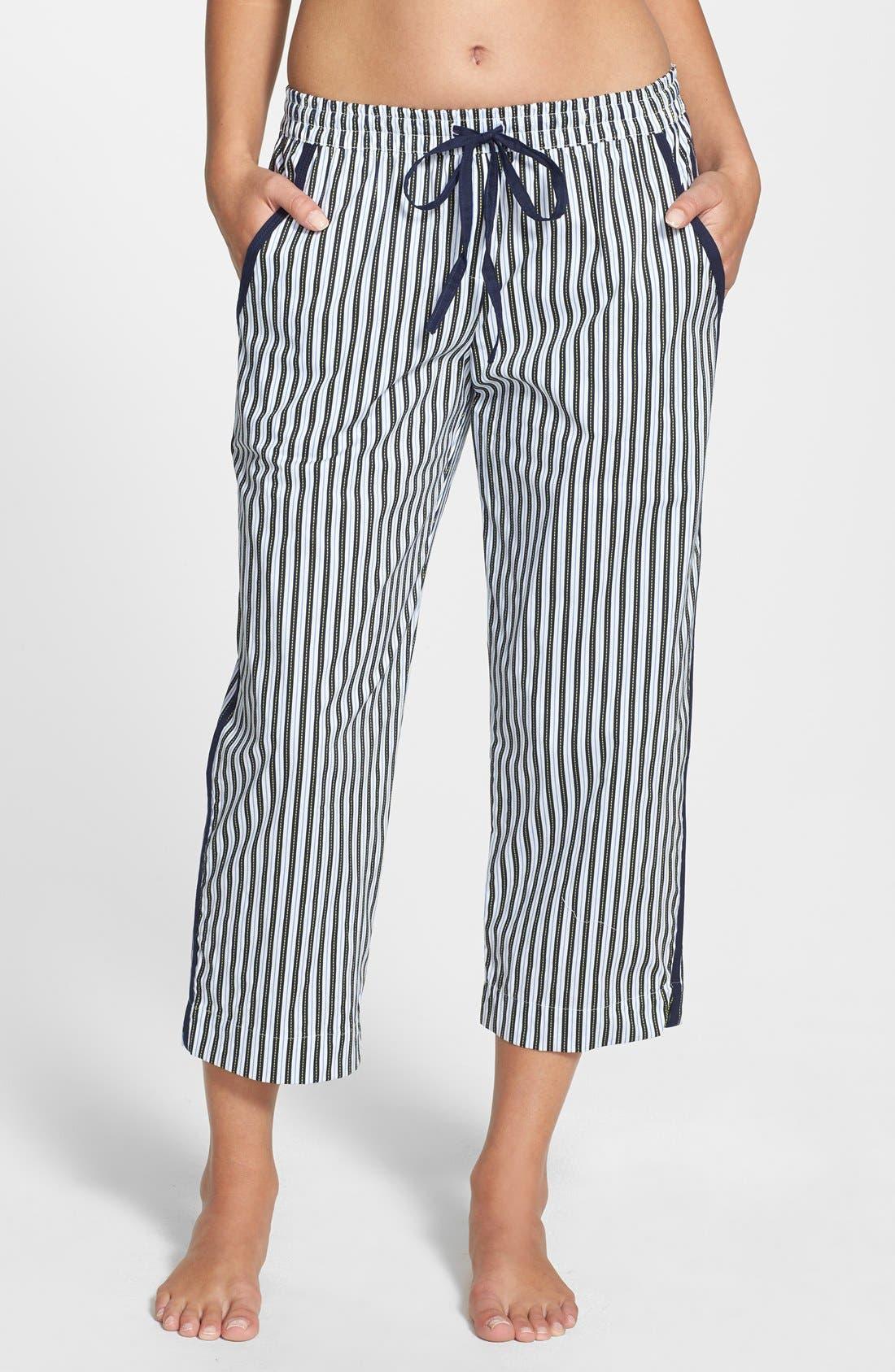 Alternate Image 1 Selected - DKNY 'Seaside Bliss' Cotton Capri Pants