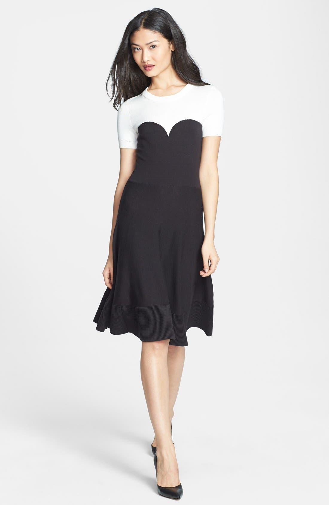 Main Image - kate spade new york colorblock sweater dress