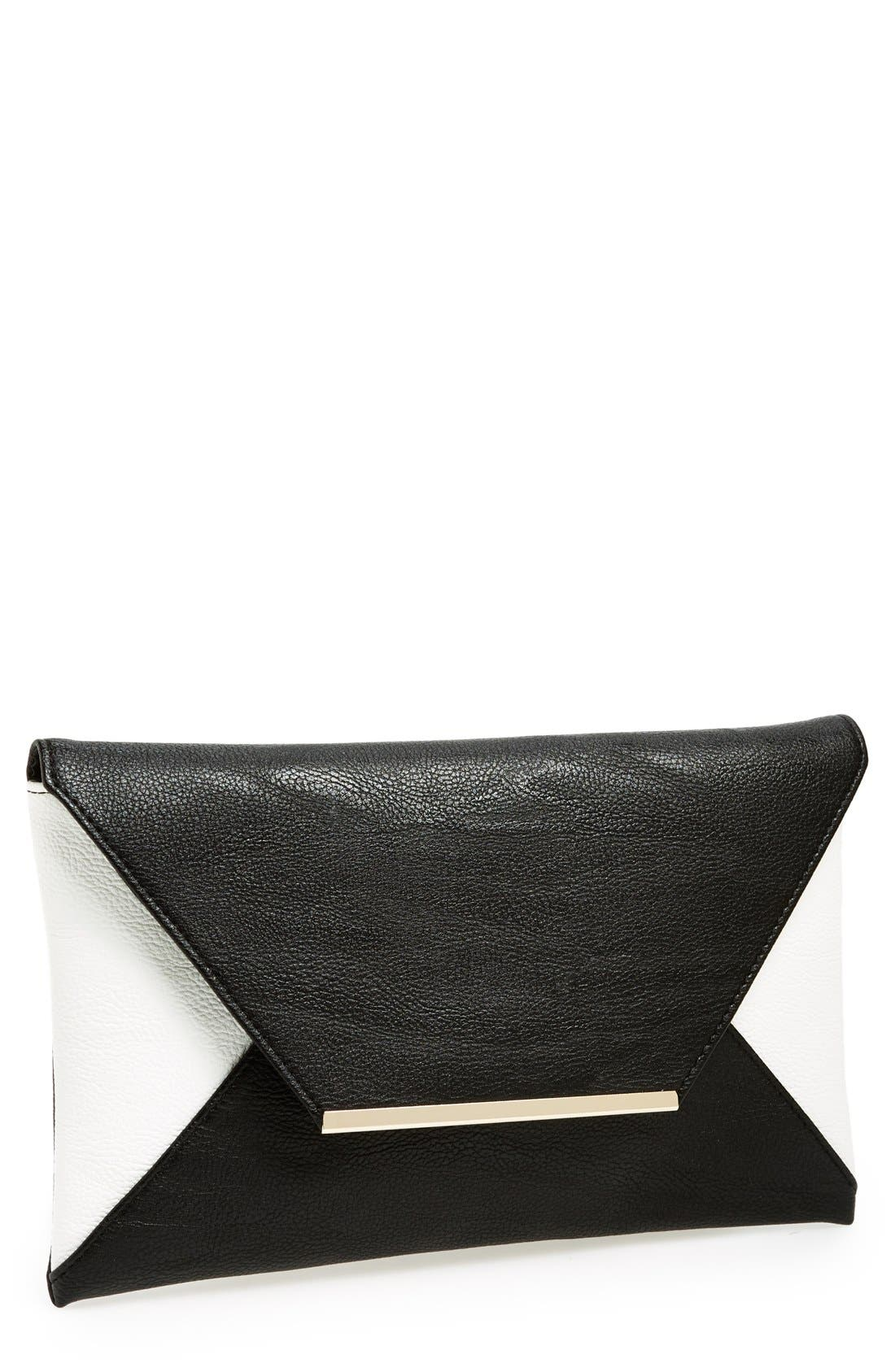 Main Image - POVERTY FLATS by rian Colorblock Envelope Clutch