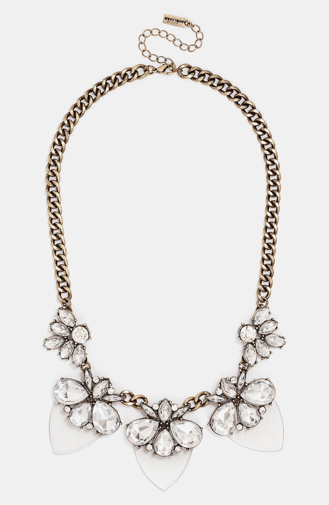Alternate Image 1 Selected - BaubleBar 'Lucite Persimmon' Bib Necklace