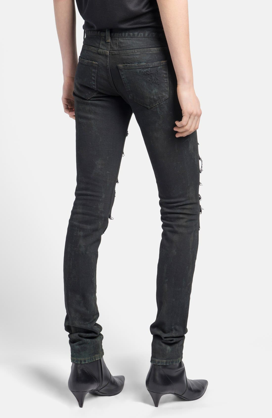 Alternate Image 2  - Saint Laurent Ripped Skinny Jeans