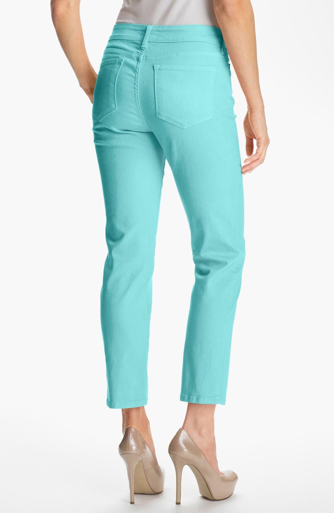 Alternate Image 2  - NYDJ 'Alisha' Colored Stretch Ankle Skinny Jeans