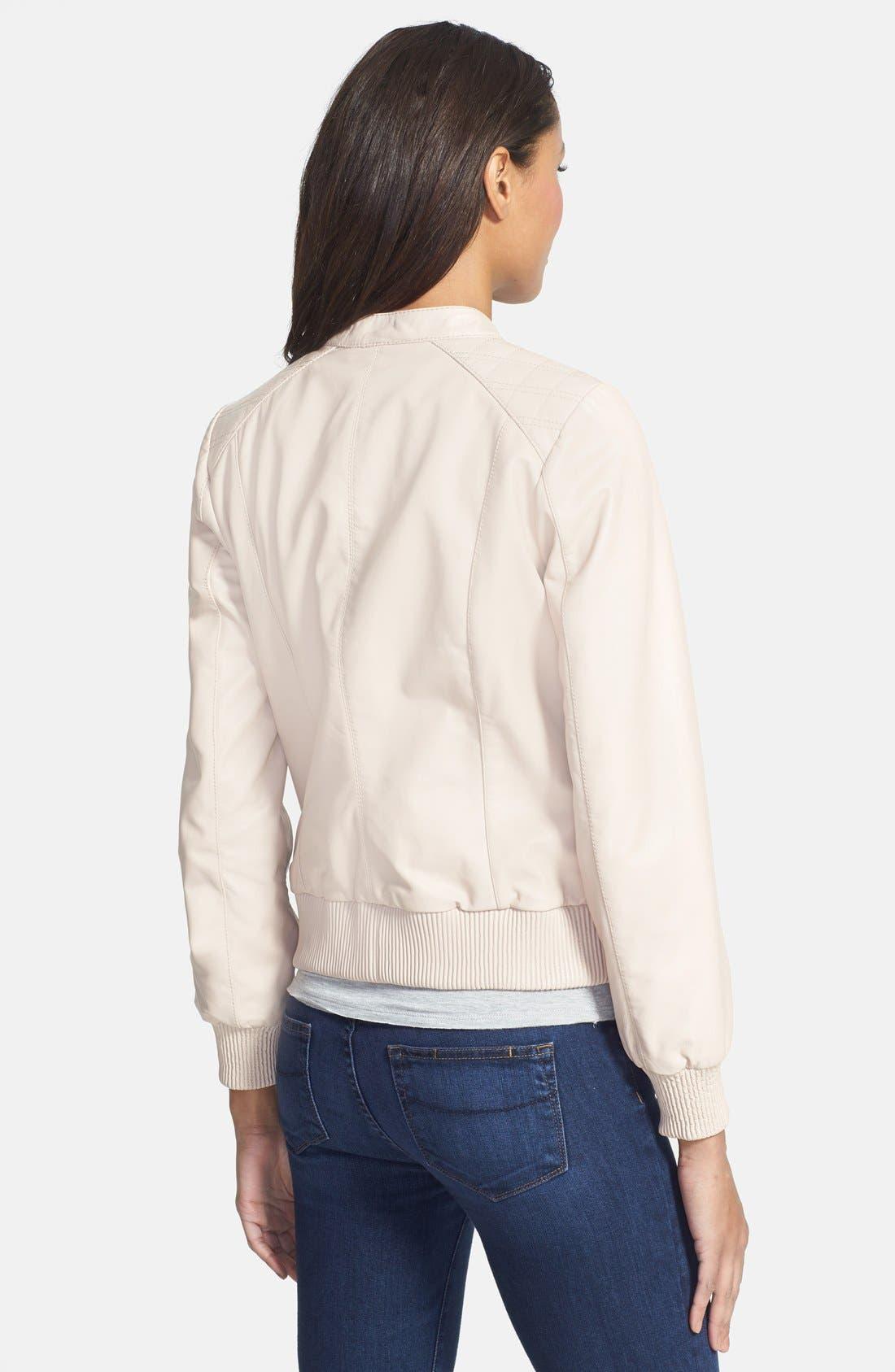 Alternate Image 2  - Trina Turk Leather Bomber Jacket