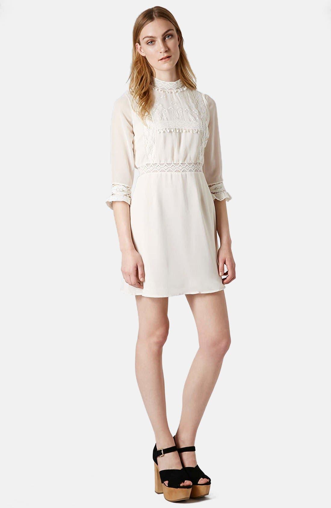 Alternate Image 5  - Topshop 'Victorina' Lace Detail Dress