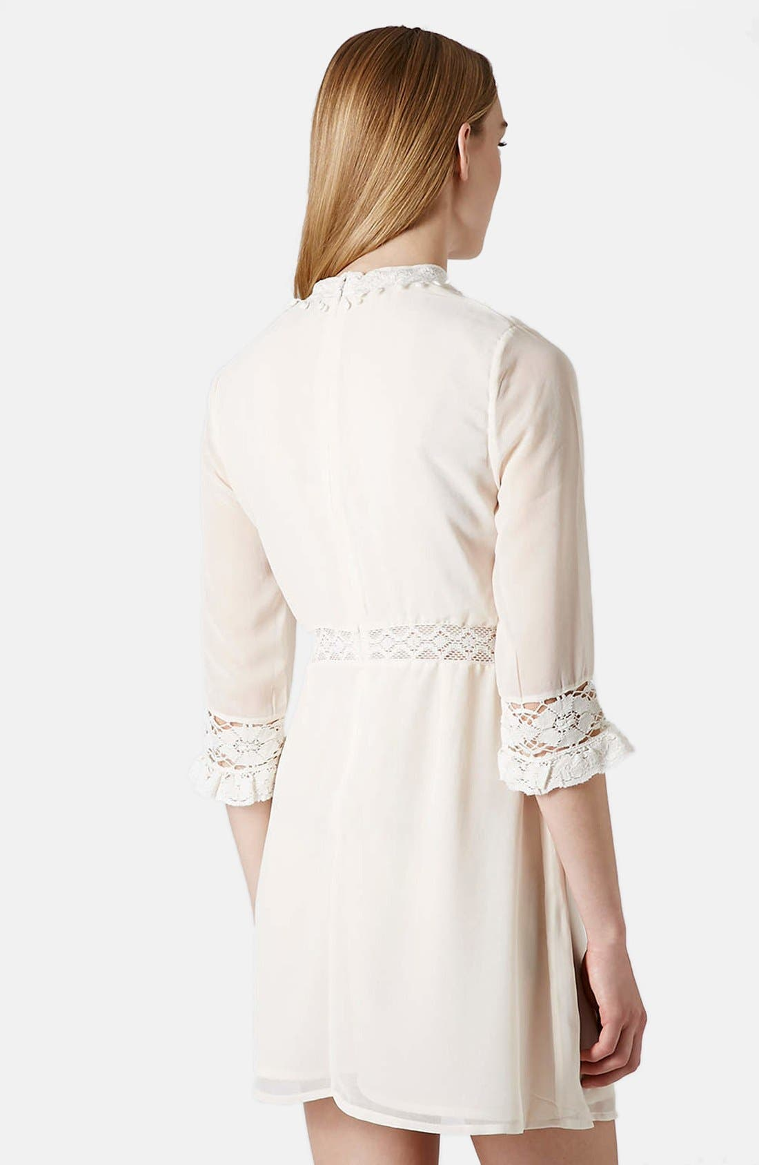 Alternate Image 2  - Topshop 'Victorina' Lace Detail Dress