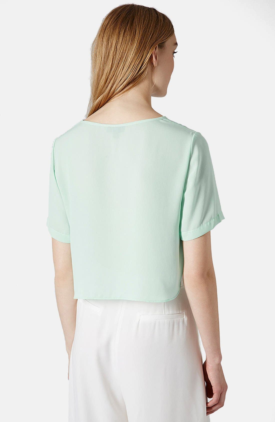 Alternate Image 2  - Topshop 'Pasha' Side Split Crop Tee