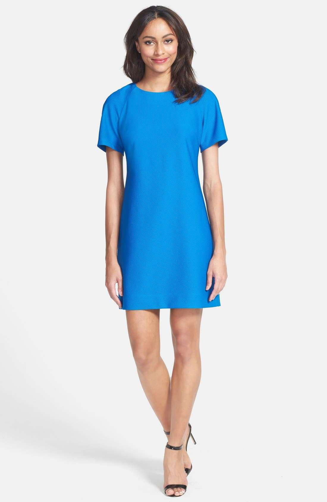Alternate Image 3  - Donna Ricco Textured Knit Shift Dress