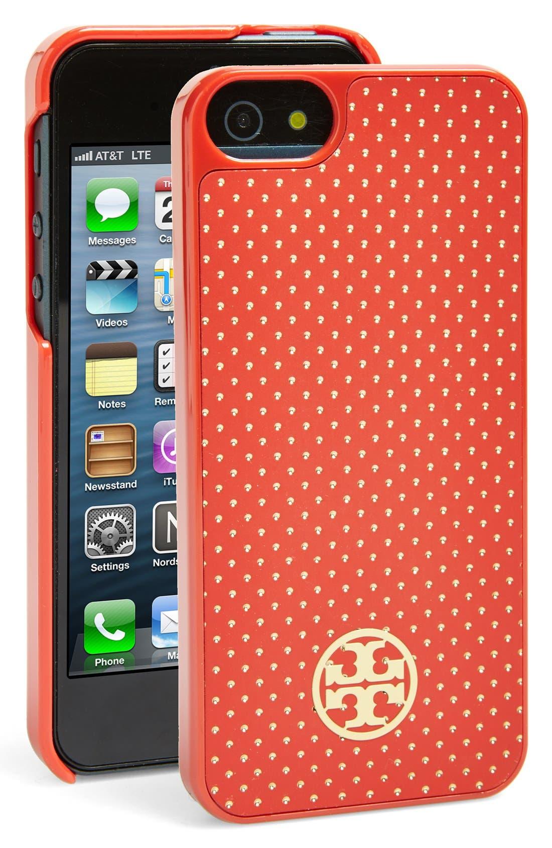 Main Image - Tory Burch 'Pindot' iPhone 5 & 5s Case
