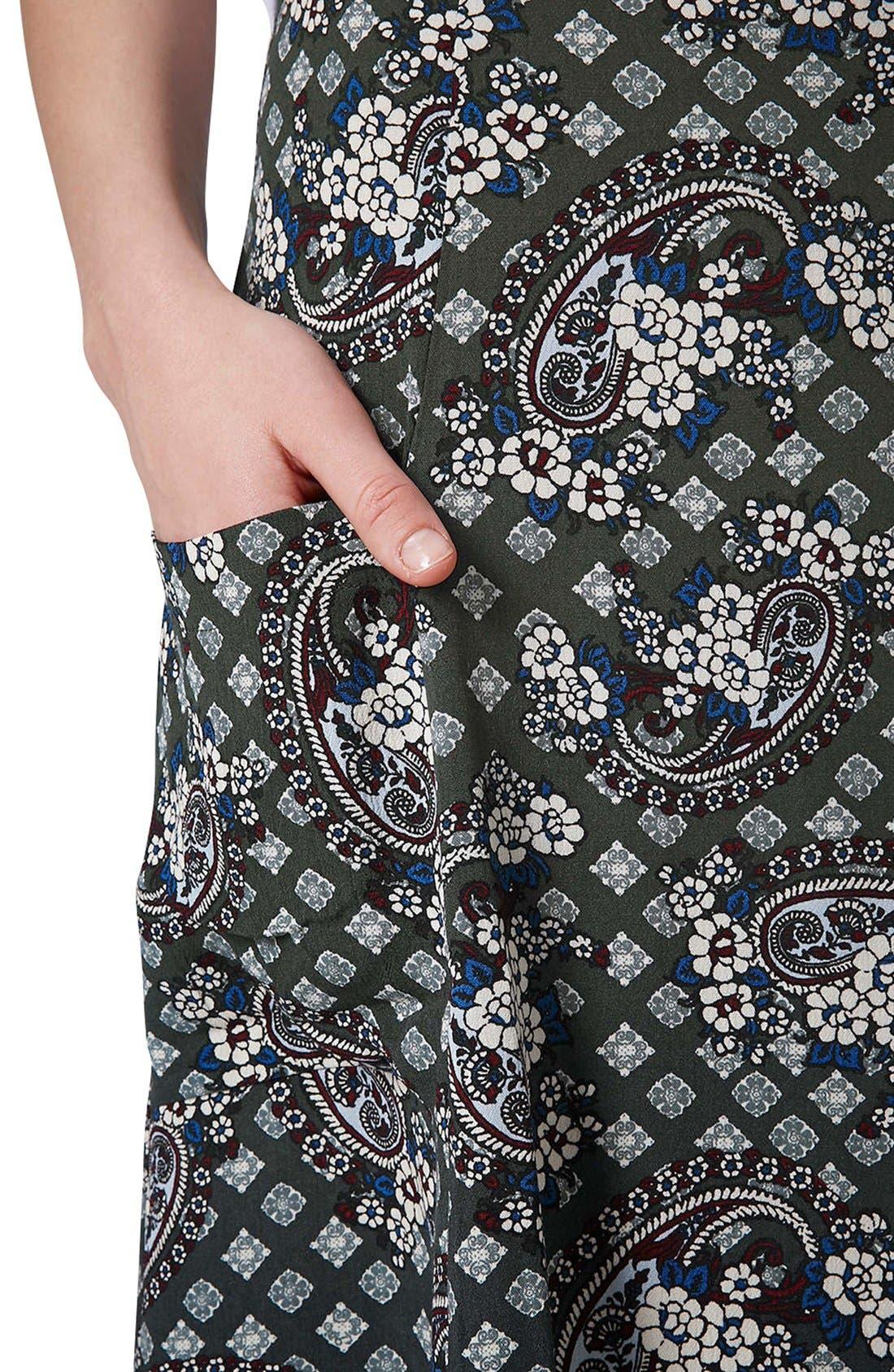 Alternate Image 4  - Topshop Tile Print Midi Skirt