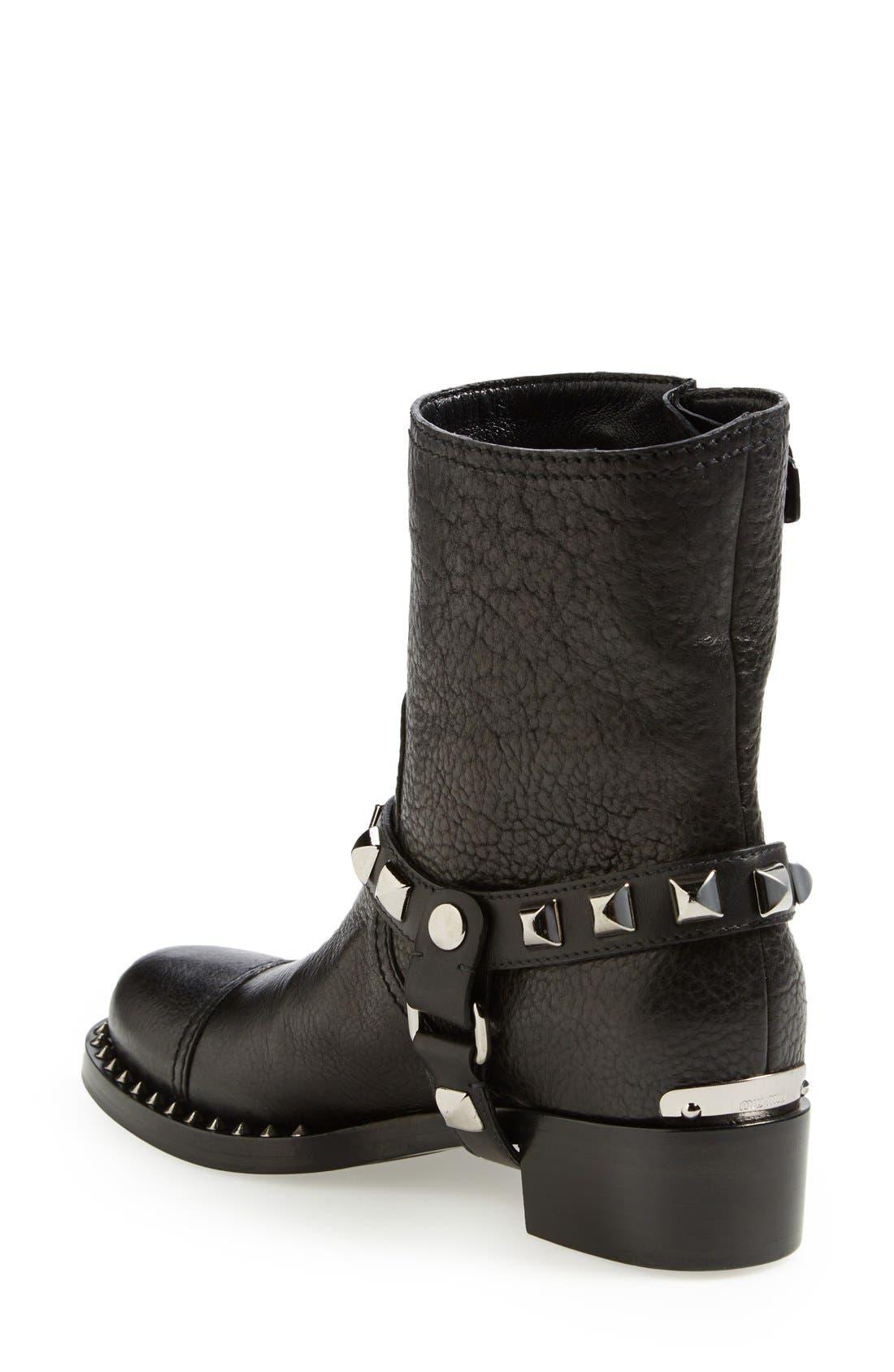 Alternate Image 2  - Miu Miu Studded Harness Moto Boot (Women)