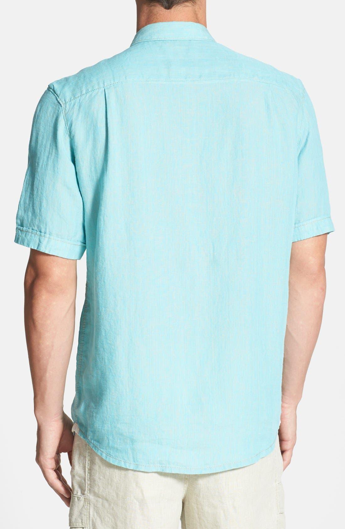 Alternate Image 2  - Tommy Bahama 'Party Breezer' Short Sleeve Linen Sport Shirt