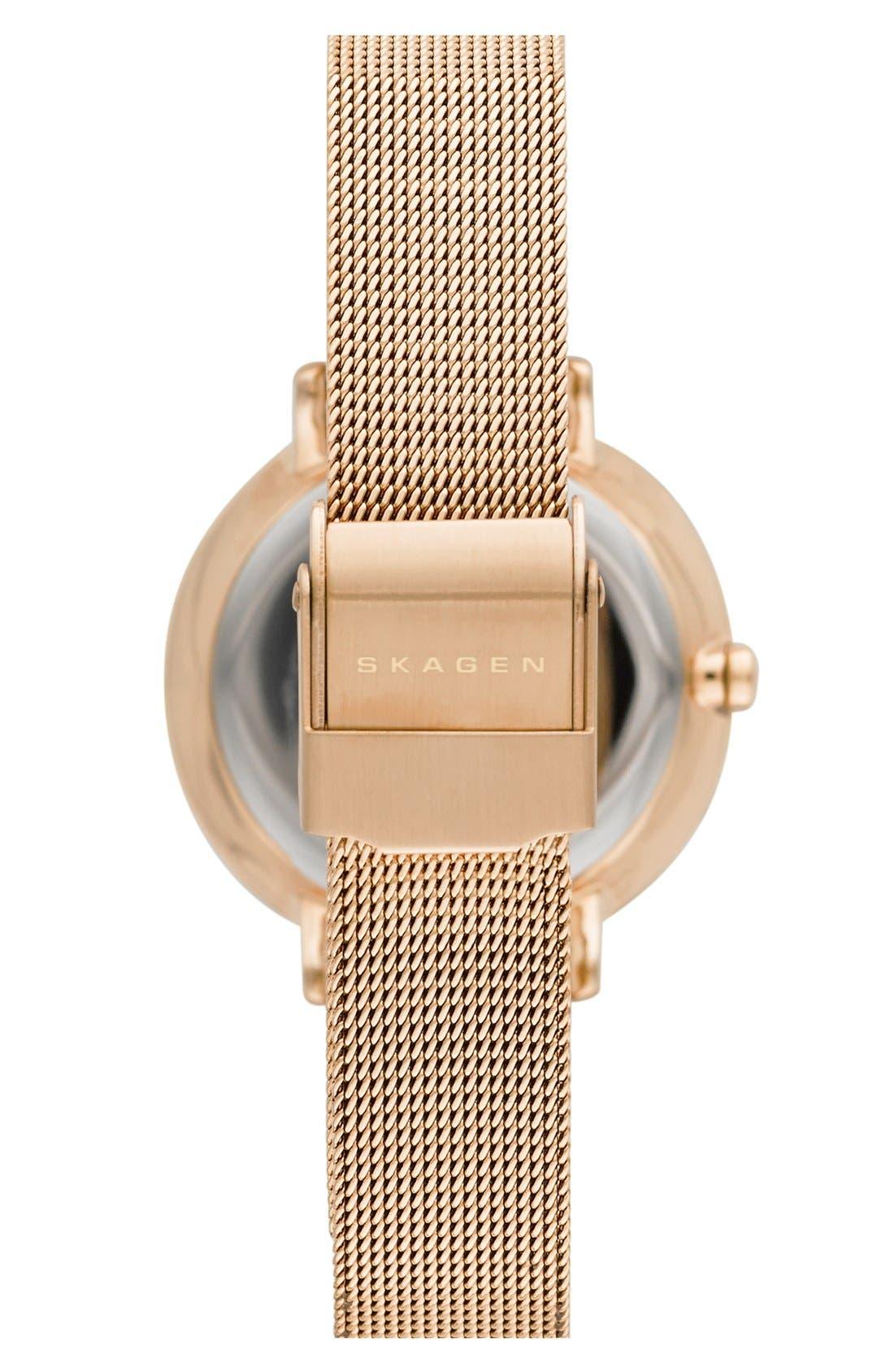 Alternate Image 2  - Skagen 'Ditte' Round Mesh Strap Watch, 30mm