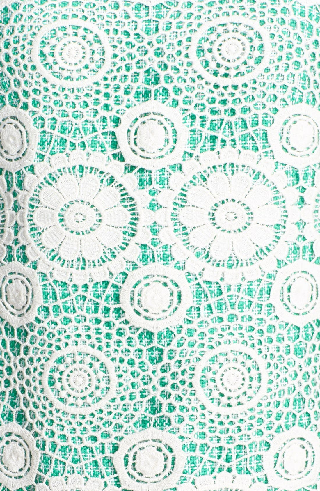 Alternate Image 4  - Ivy & Blu Crochet Panel Tweed Shift Dress