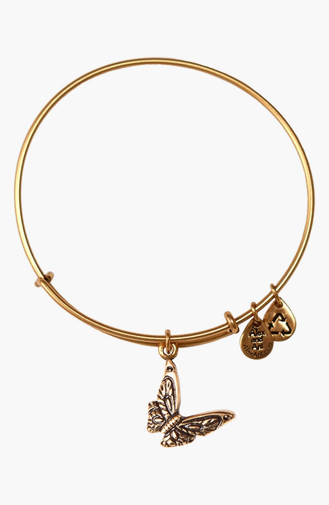 Main Image - Alex and Ani 'Butterfly' Expandable Wire Bangle